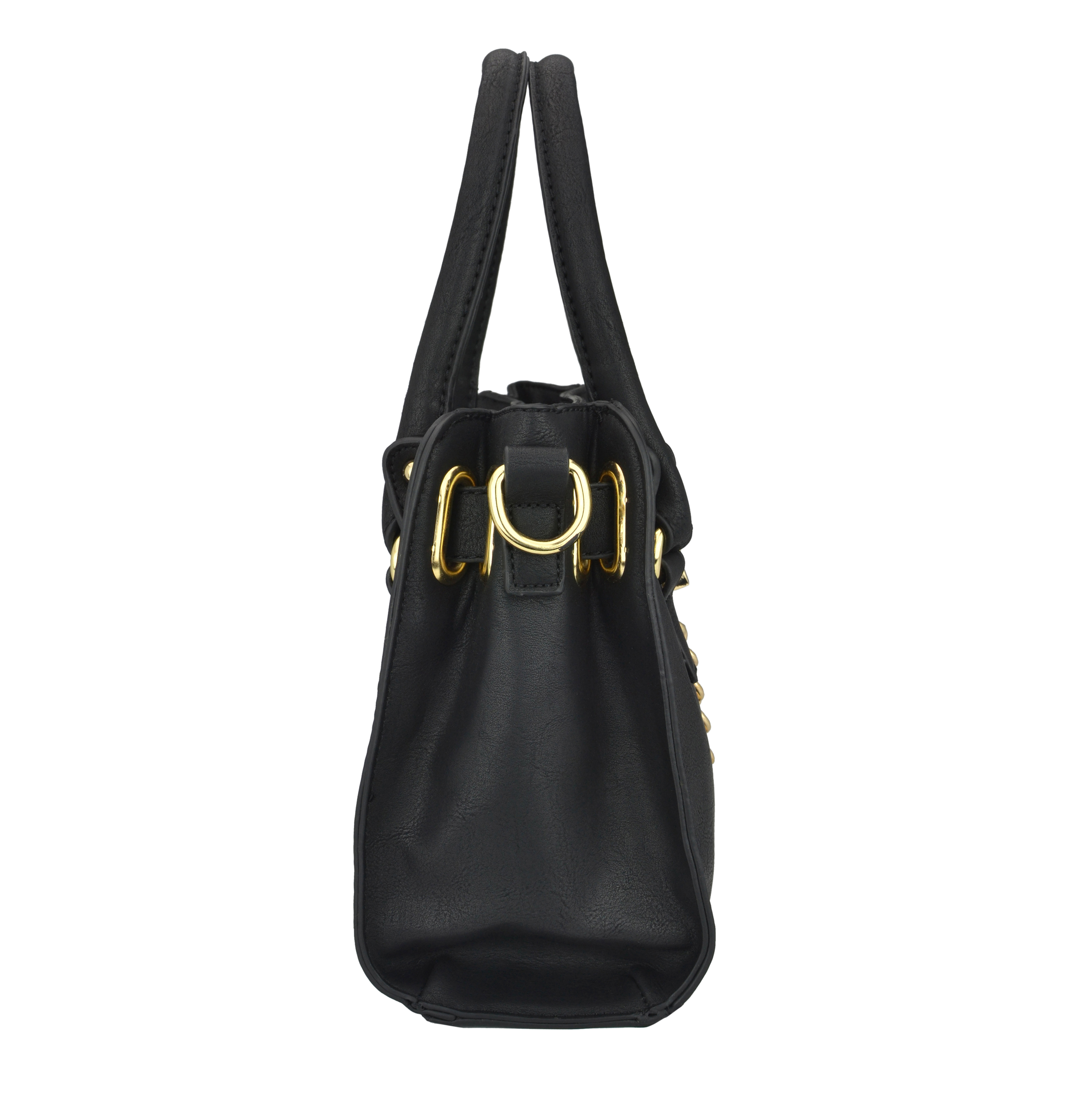 NERYS black top handle tote purse side image