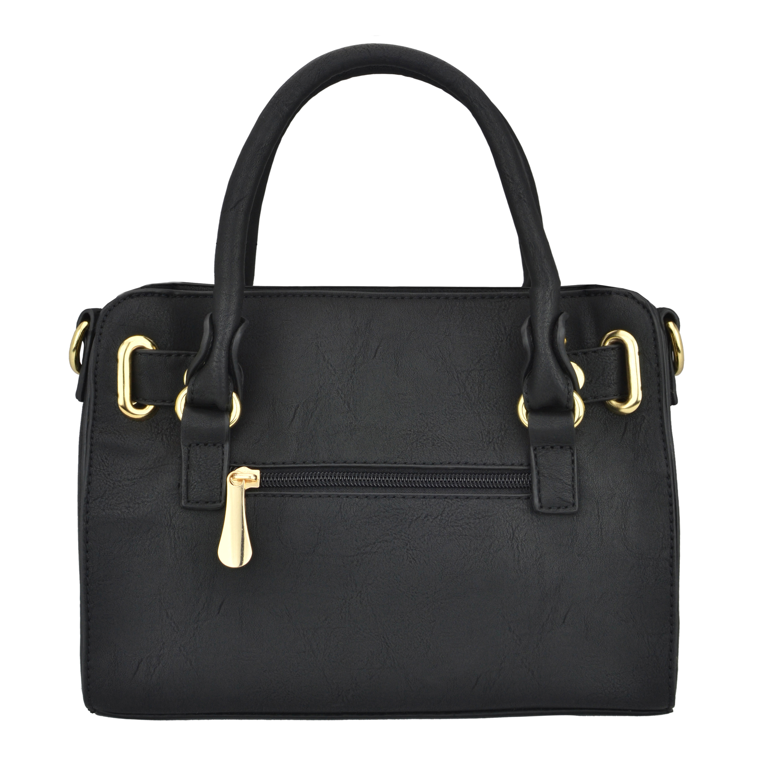NERYS black top handle tote purse back image