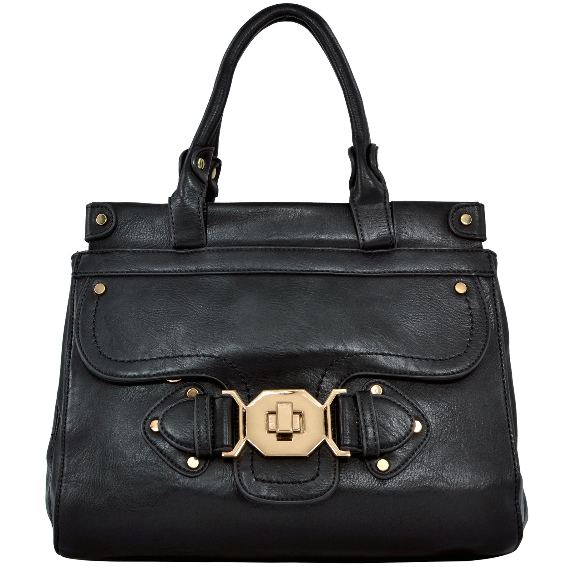 wendy brown satchel style shoulder bag front image