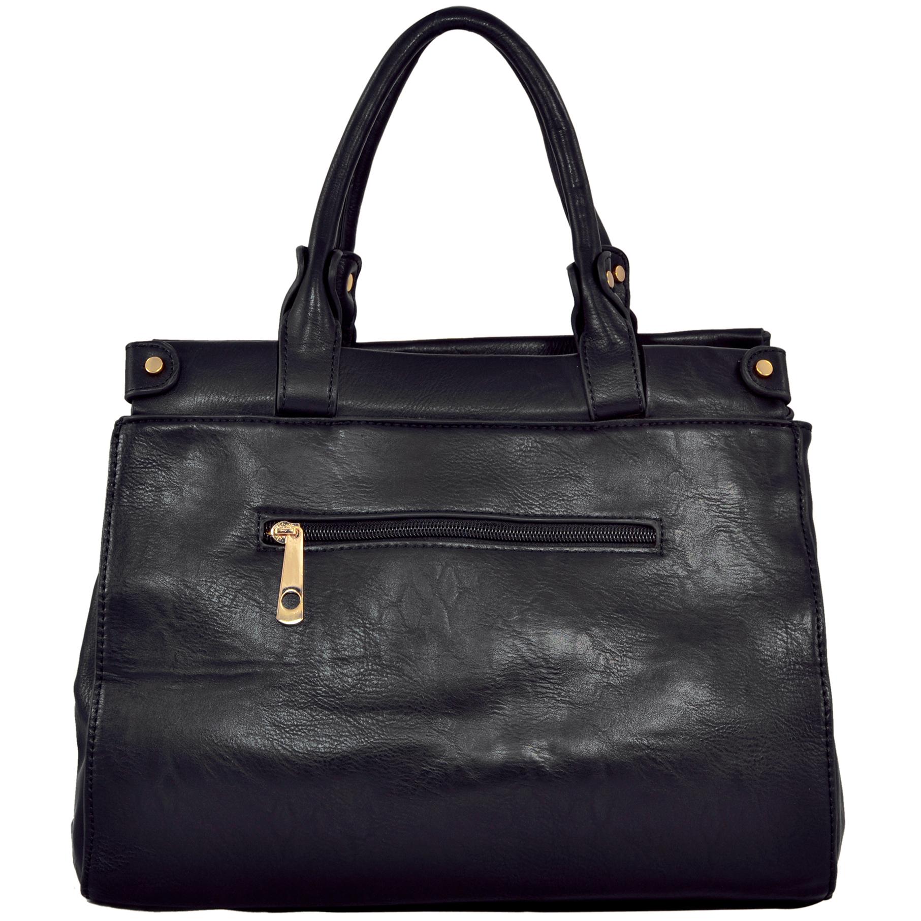 wendy brown satchel style shoulder bag back image