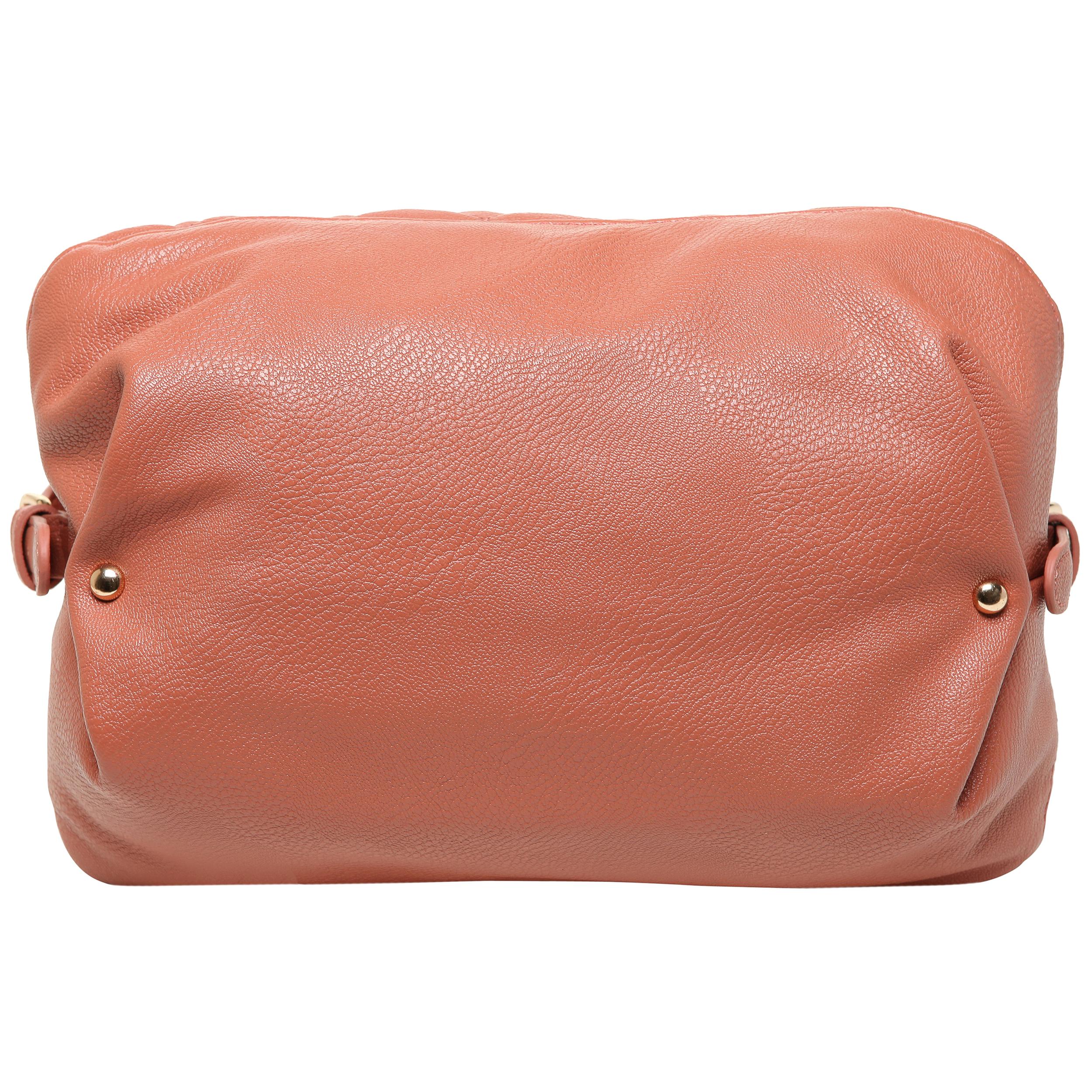 Imani pink quilted bowler designer handbag bottom image