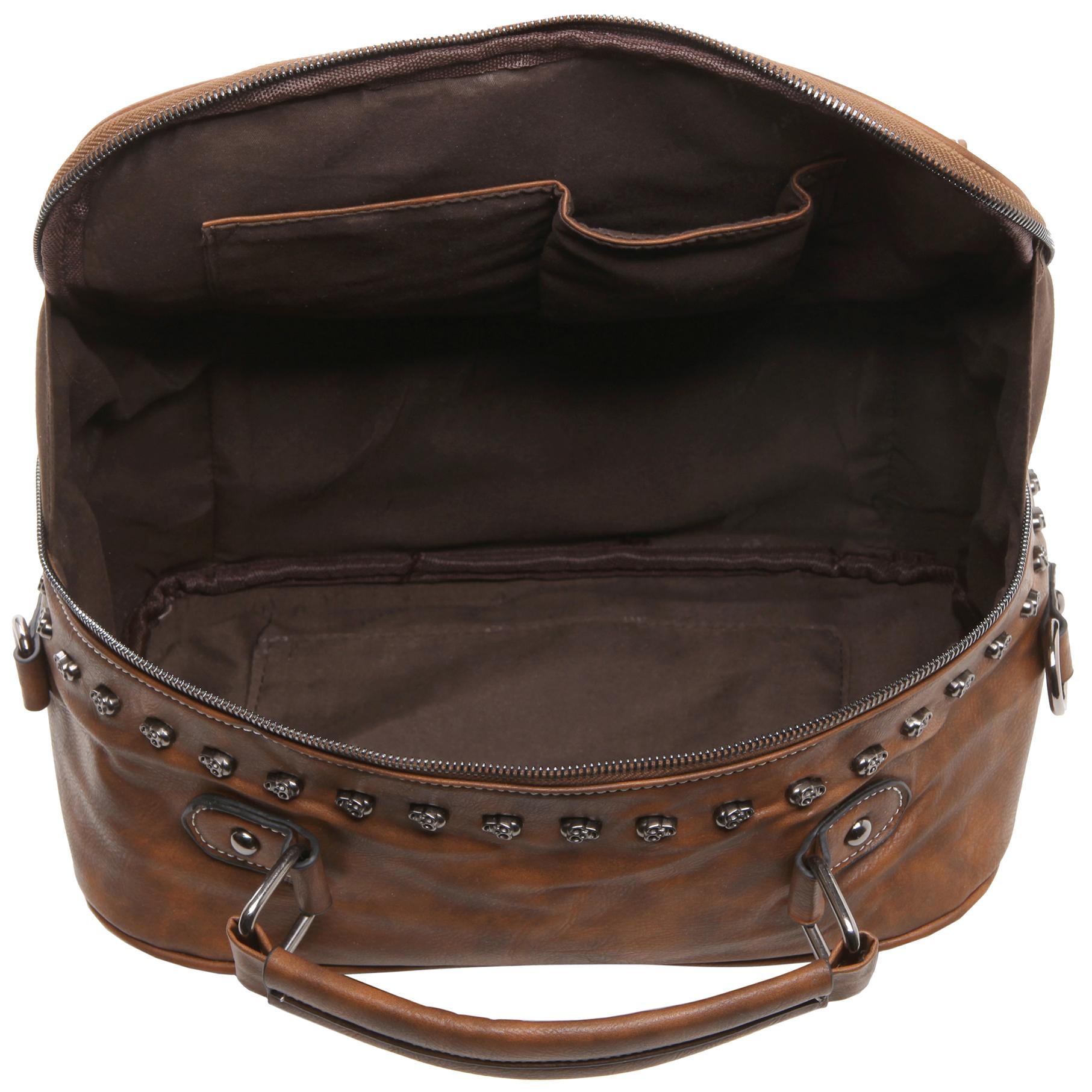 Women's Designer Handbag MASON in Brown Gothic Style Satchel open image
