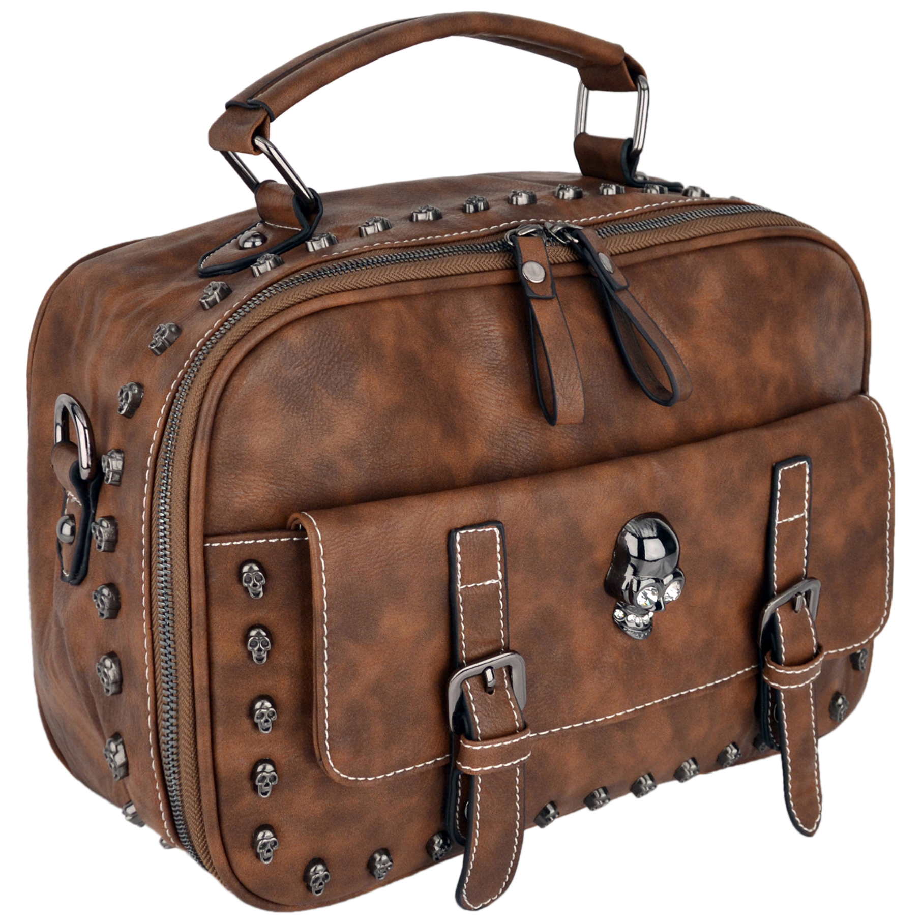 Women's Designer Handbag MASON in Brown Gothic Style Satchel main image