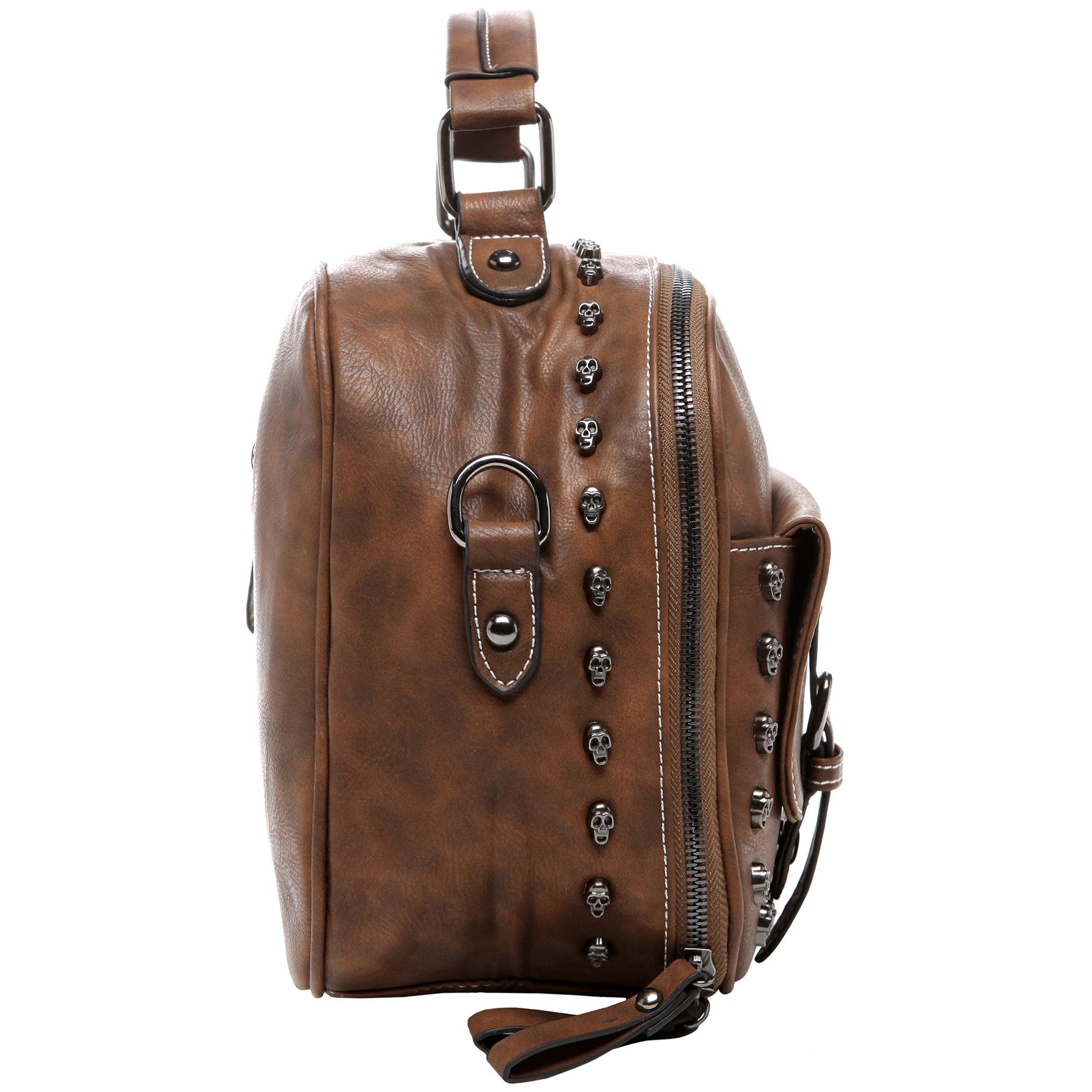 Women's Designer Handbag MASON in Brown Gothic Style Satchel side image