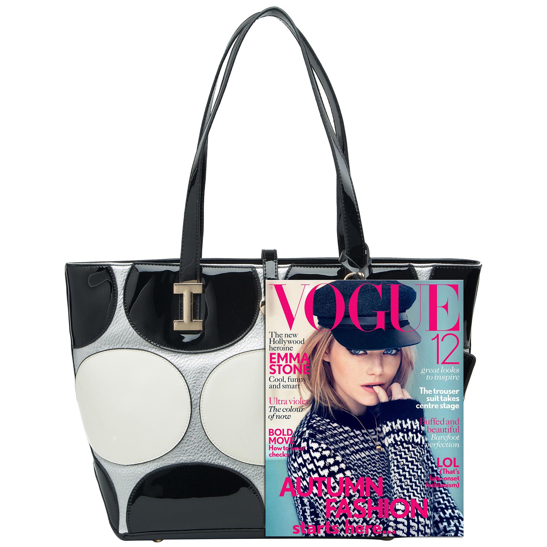 April retro leatherette top handle designer handbag size comparison image