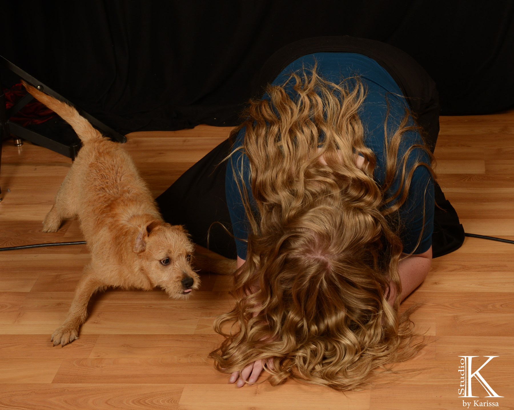 Keely was doing a dance routine that started like this and my dog Rosie wanted to dance too! :)