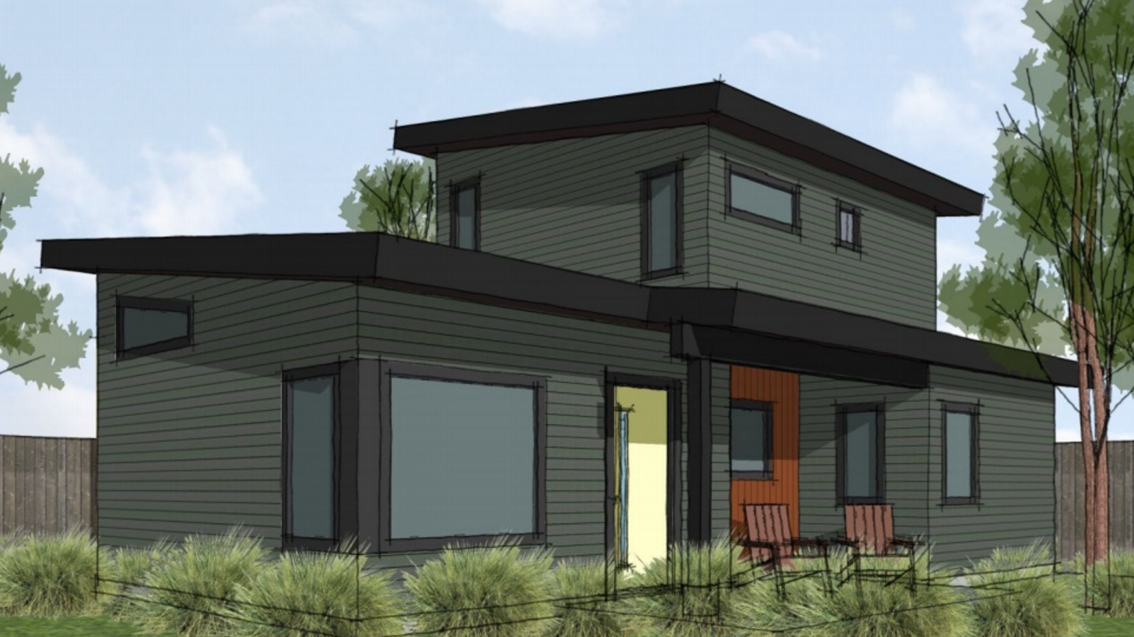 BALLARD DADU   (NET ZERO)  BALLARD, SEATTLE, WA  This project will be constructed to Five Star Built Green standards and will be net zero, producing as much energy as it consumes. The Ballard DADU (detached accessory dwelling unit) will feature an energy efficient building envelope, radiant floor heating, 6KW of solar power, SIP roof panels, and triple-pane windows. Abode is looking forward to breaking ground on this exciting net zero cottage in spring 2016.