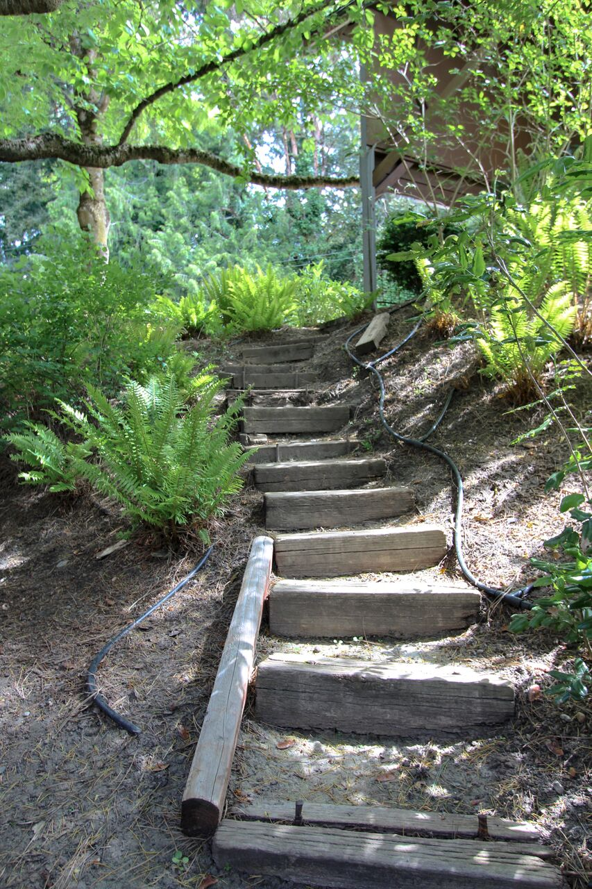 Exterior projects include the walkways aNd landscaping