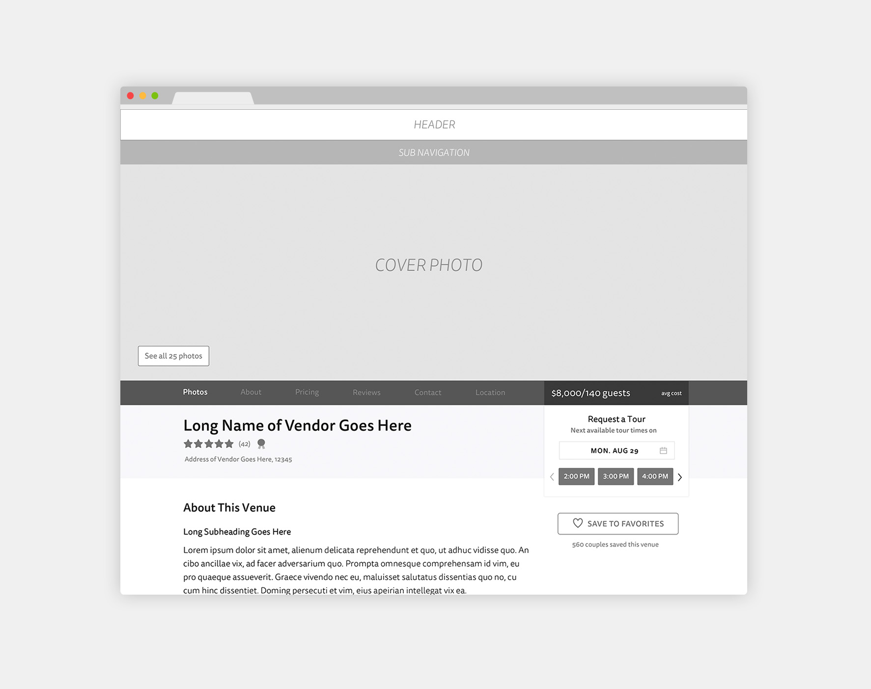 Link:  View More Wireframes in Invision