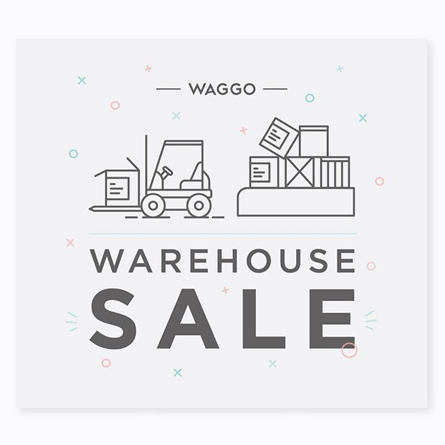A little forklift concept I designed for a warehouse sale at Waggo.