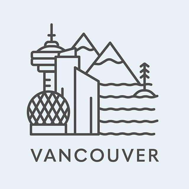 Just got back from a little road trip to Vancouver and made a little icon slash illustration based on what I saw. #pnw