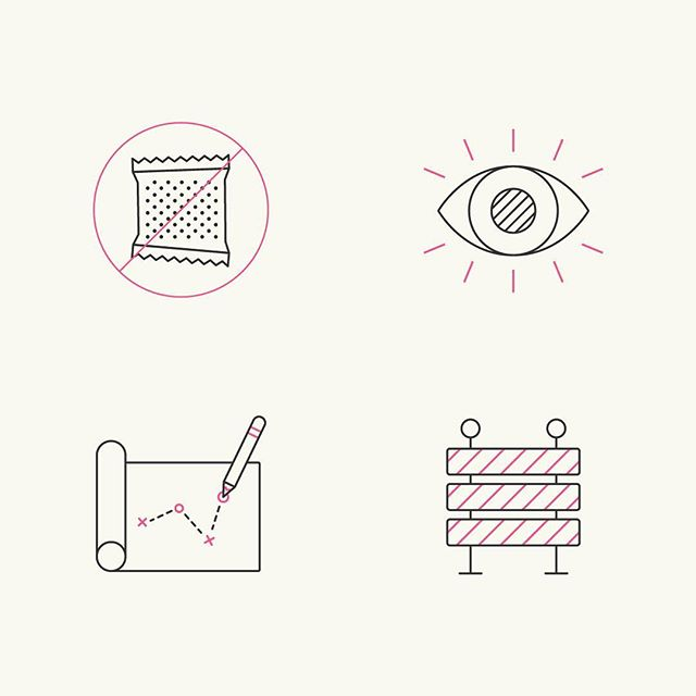 Icons from a recent project for the health lifestyle brand Higher Mind