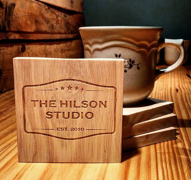 Coasters... That are also BOTTLE OPENERS. Amazing.  Also, you know... The studio. Courtesy of my brother Nick! #coasters #naturalwood #analog #openmybeer