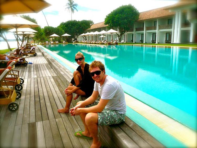 Reece and Claire visiting another favourite hotel in Sri Lanka - they stayed here 7 times!