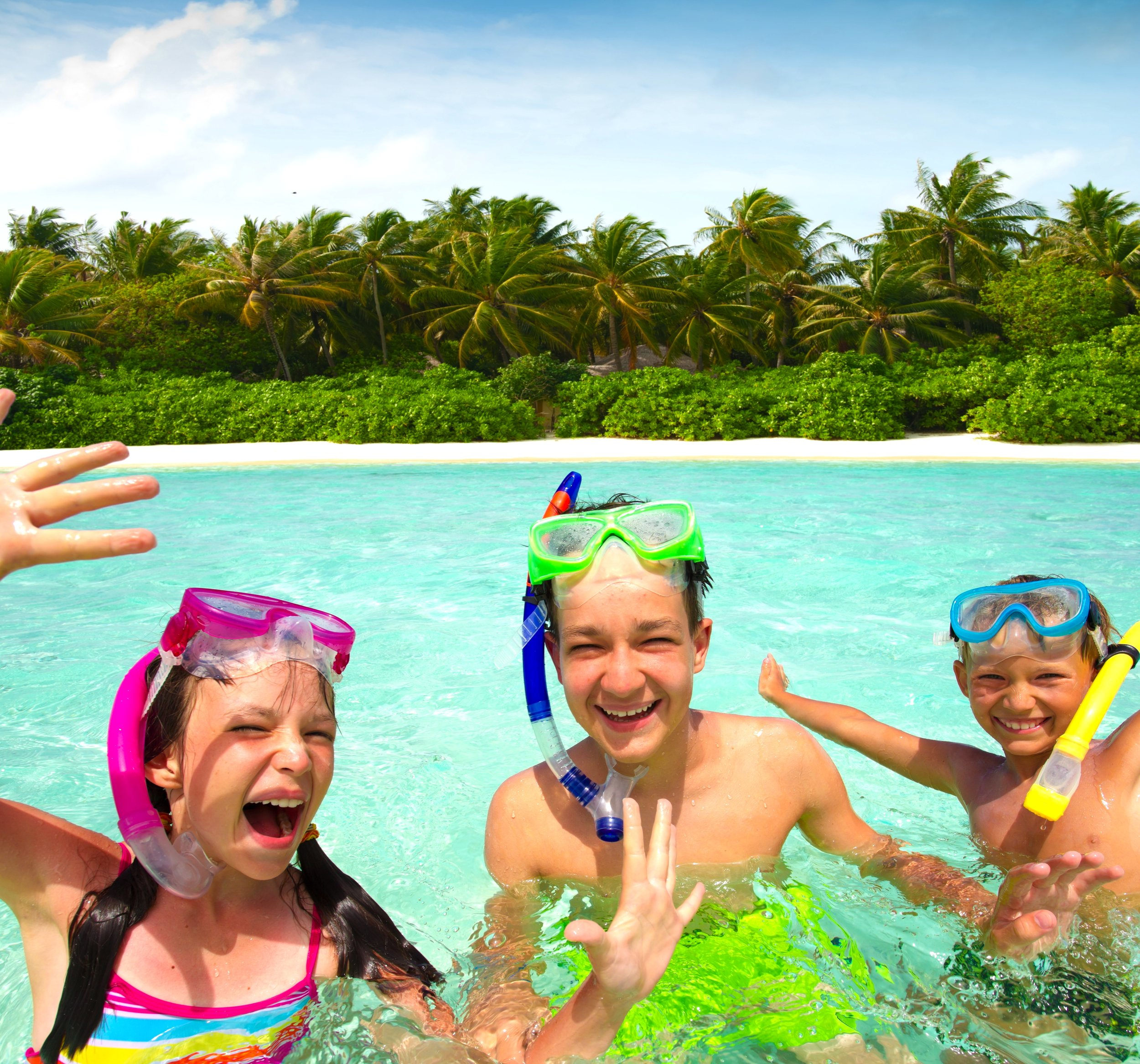 Kids are so happy in the Maldives - who wouldn't be!