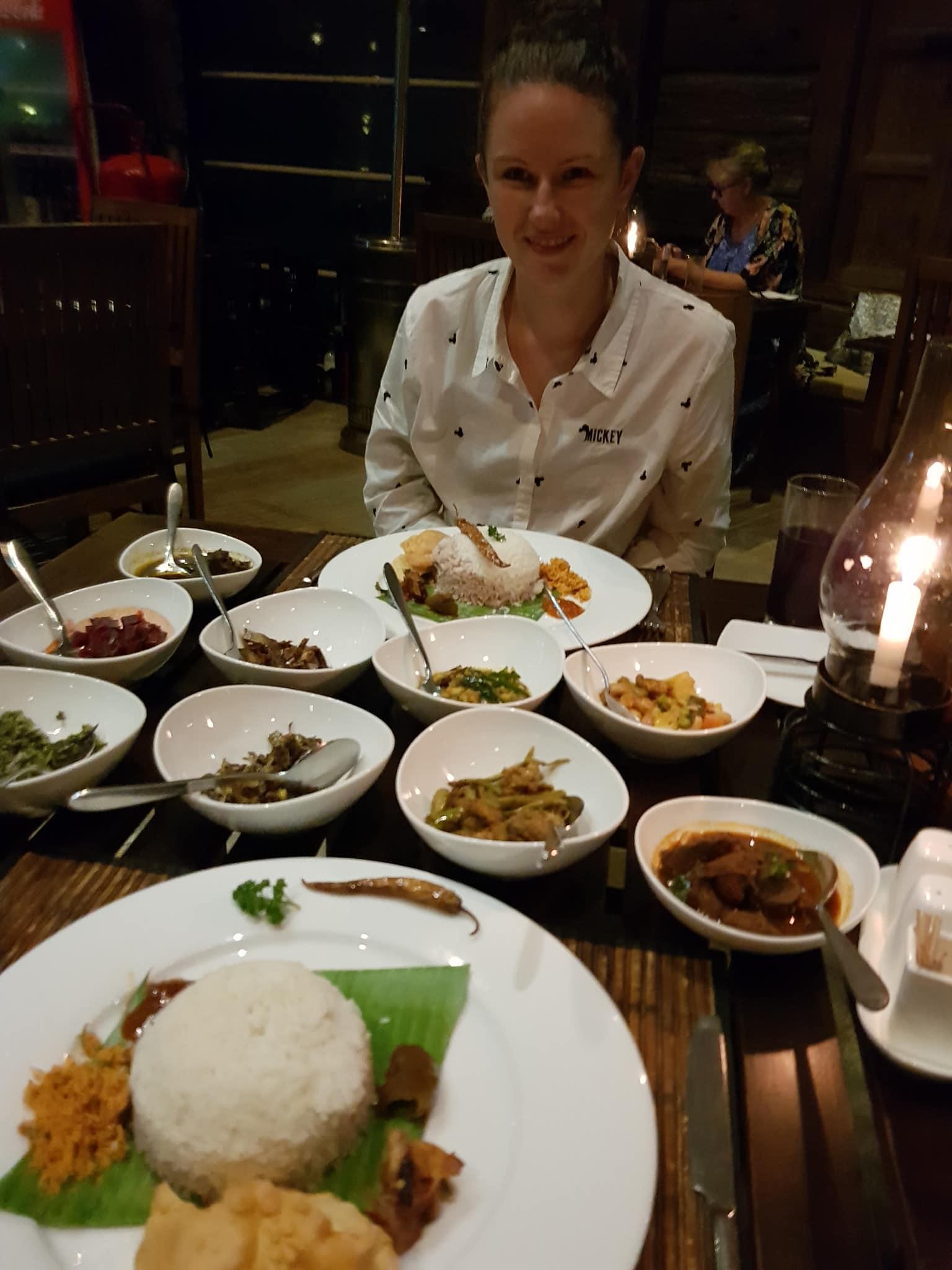 invite-to-paradise-sri-lanka-maldives-holiday-honeymoon-specialists-customer-guest-feedback-zane-lisa-butcher-98-acres-tea-plantation-ella-restaruatn-dinner-rice-and-curry.jpg