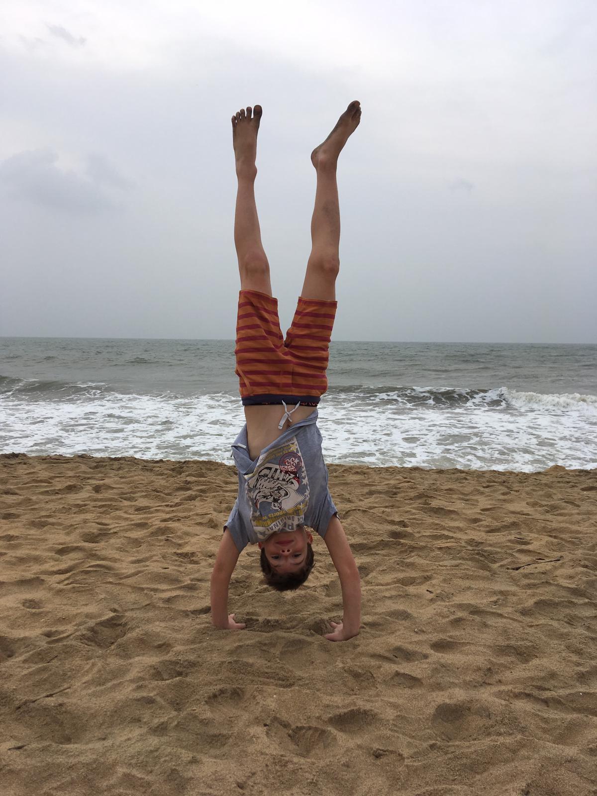 invite-to-paradise-sri-lanka-family-holiday-specialists-customer-feedback-pickering-beach-handstand.jpg