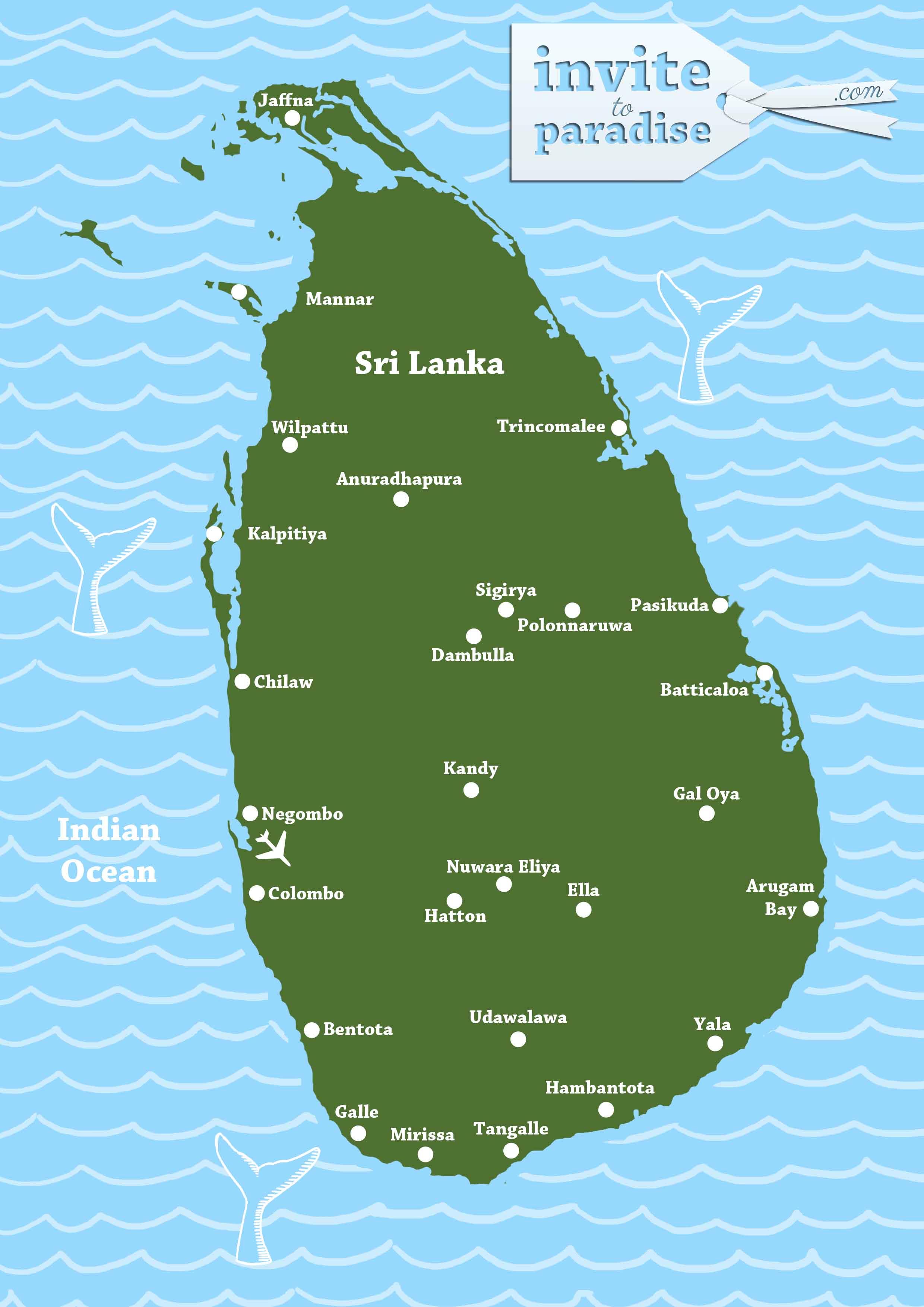 Sri Lanka Map Sri Lanka And Maldives Tailor Made Holidays