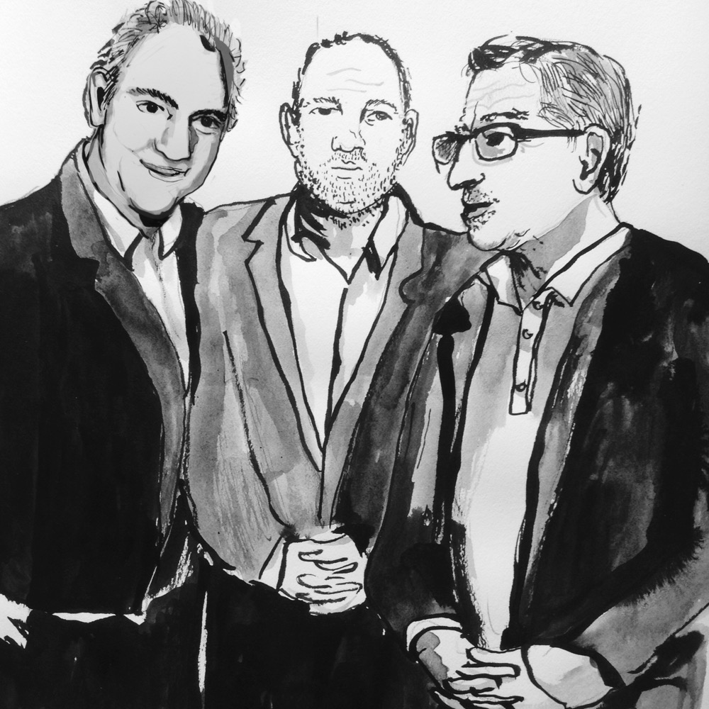 charles finch (left, harvey weinstein, (middle) and Robert de niro (right)