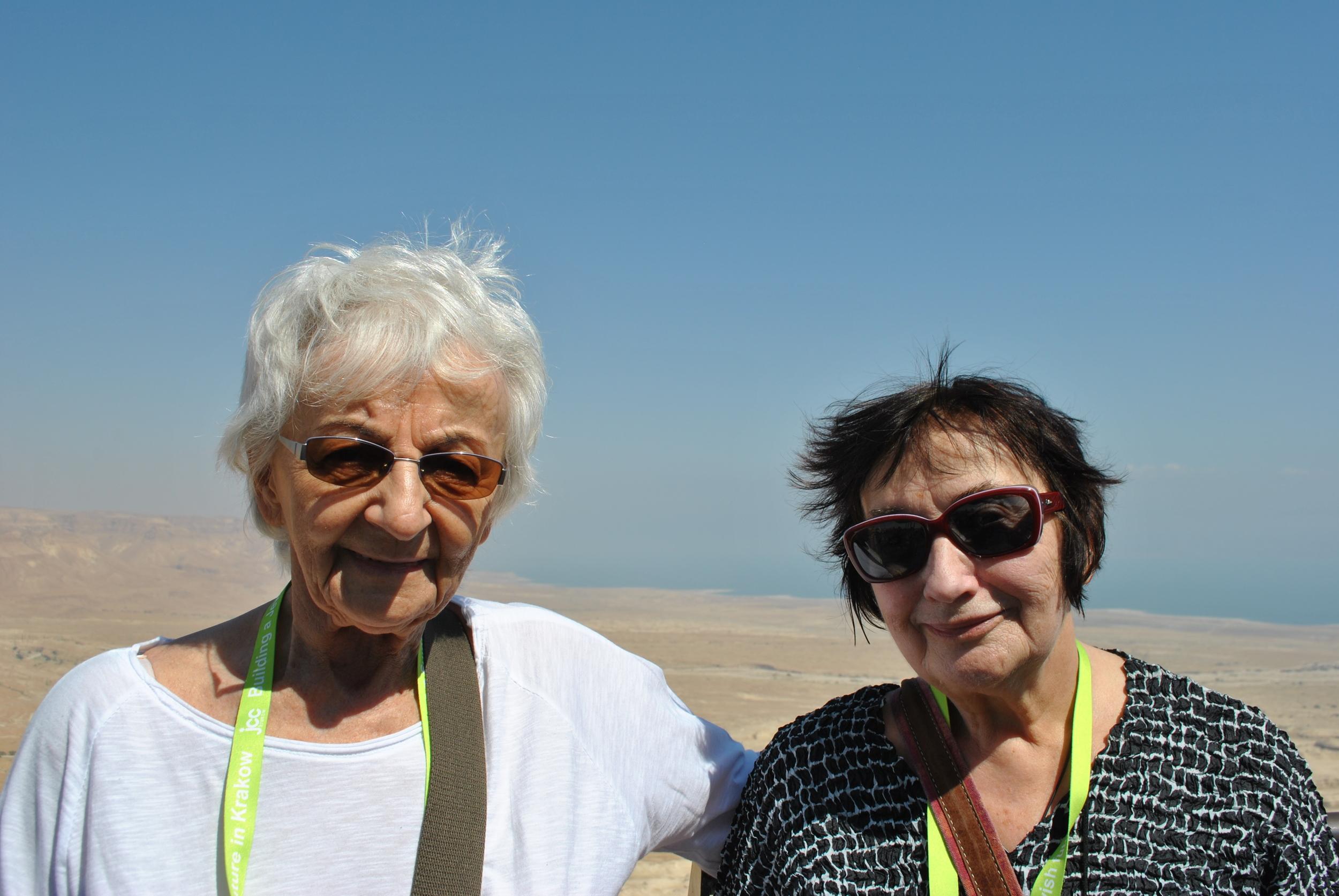 Krystyna and Pani Zosia at the Masada.