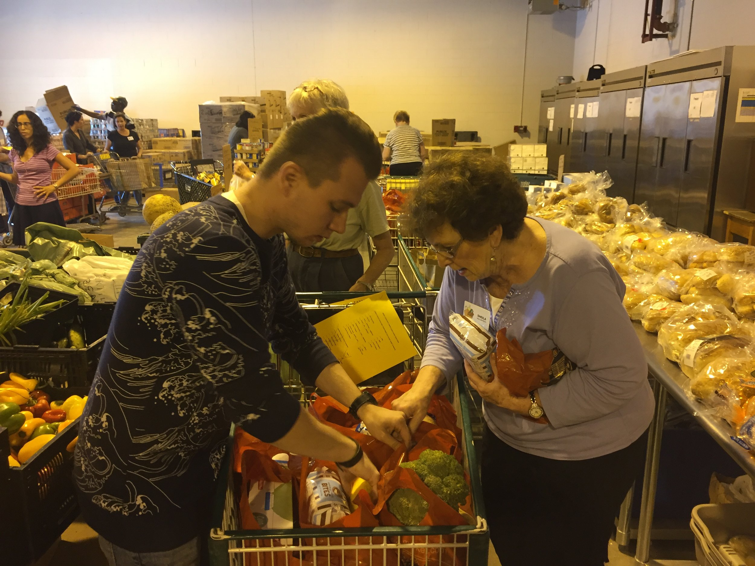 Volunteering at the Jewish Community Food Pantry in Milwaukee.