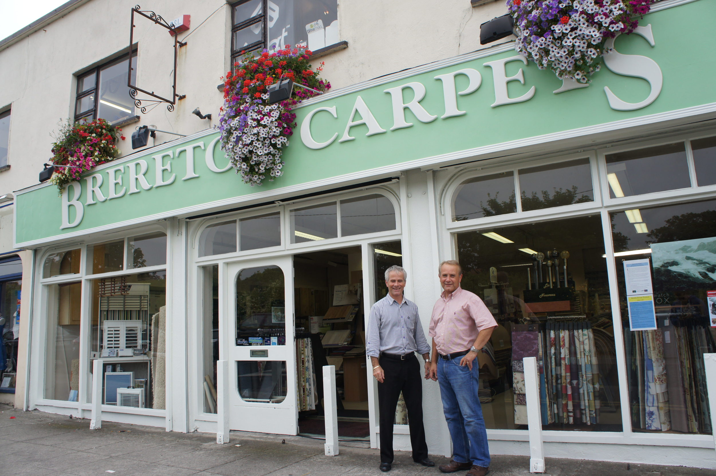 David and William outside their shop in Greystones