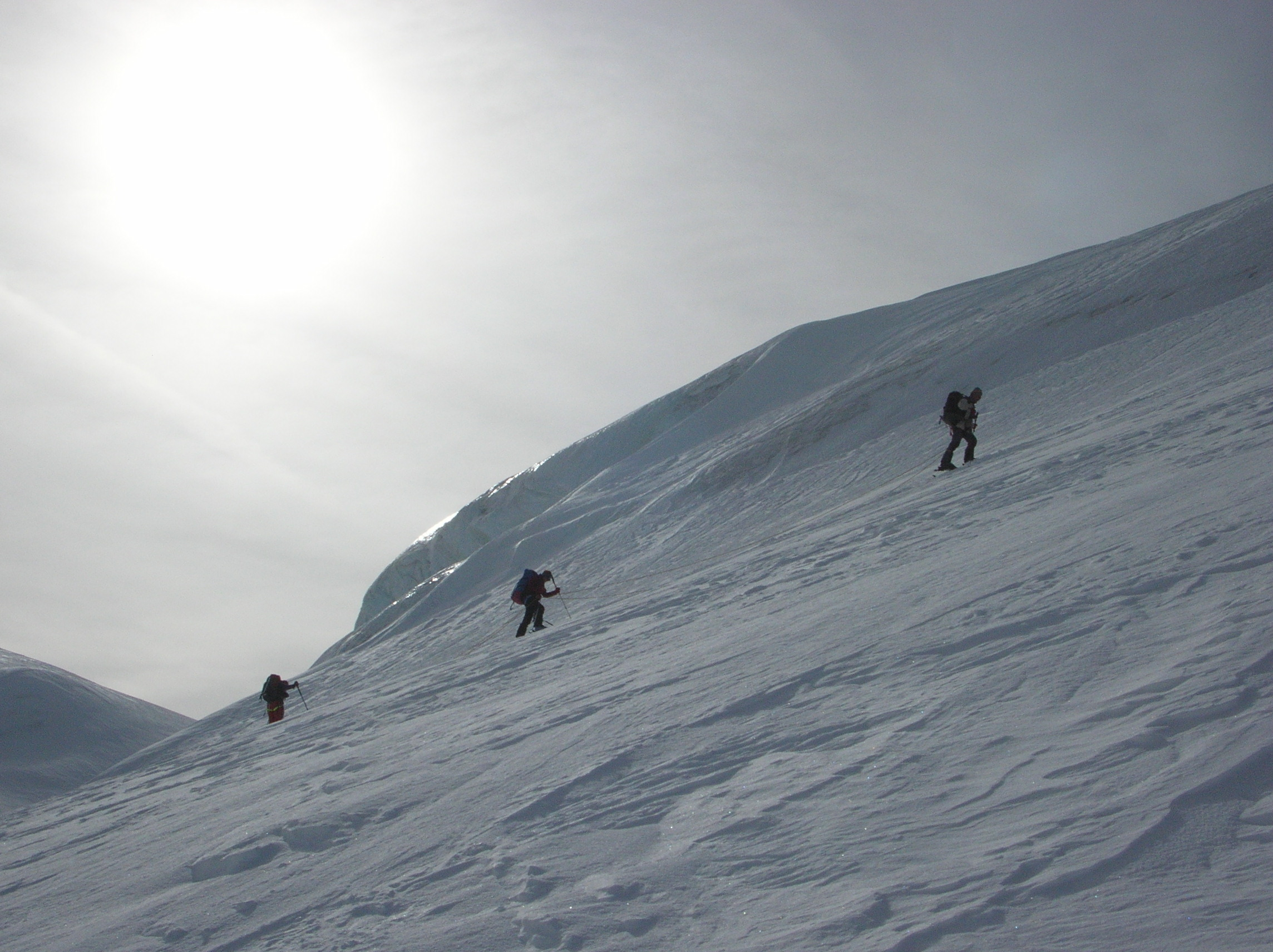 Approaching the summit of the Pigne d'Arolla