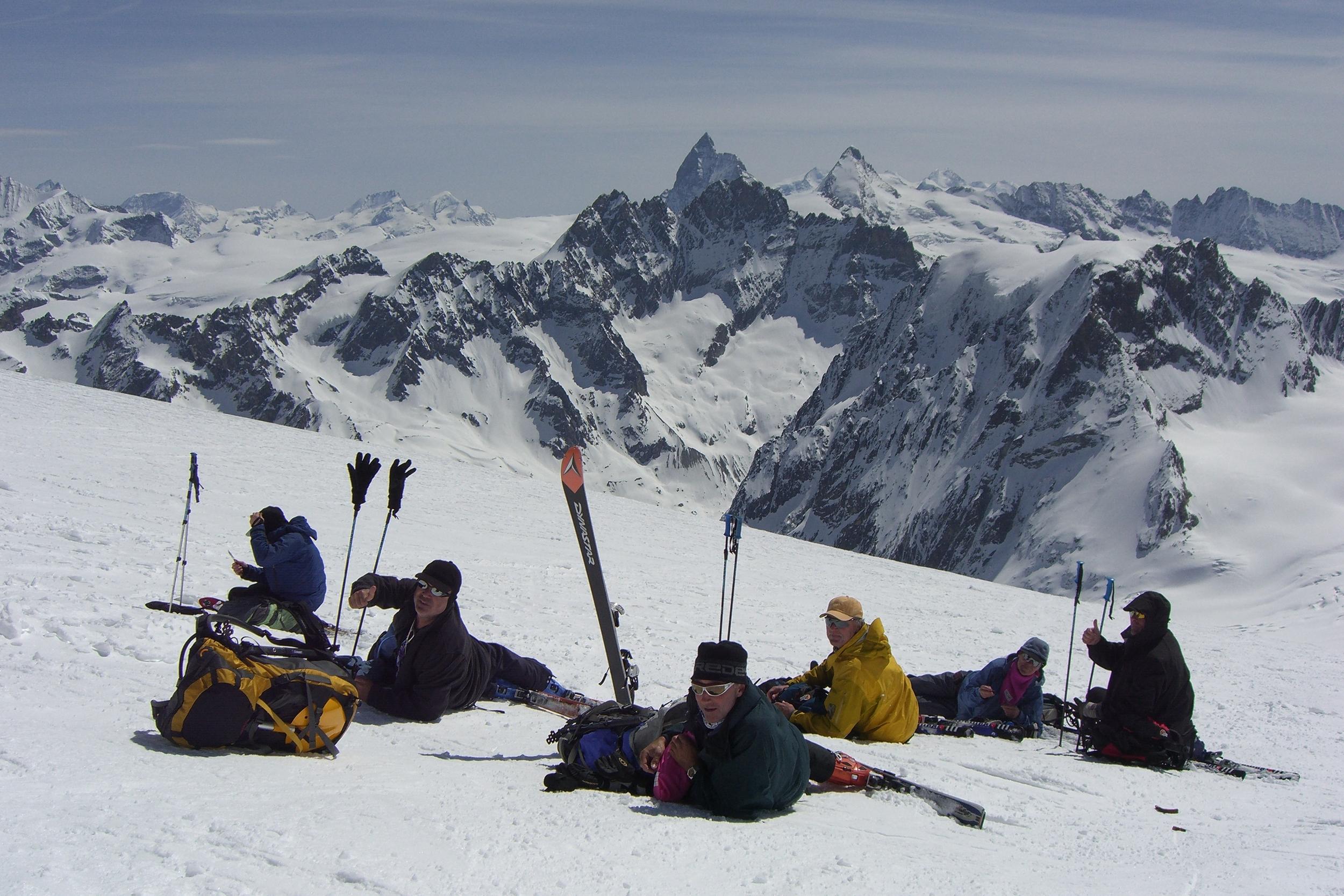 Looking towards the Matterhorn on the last day