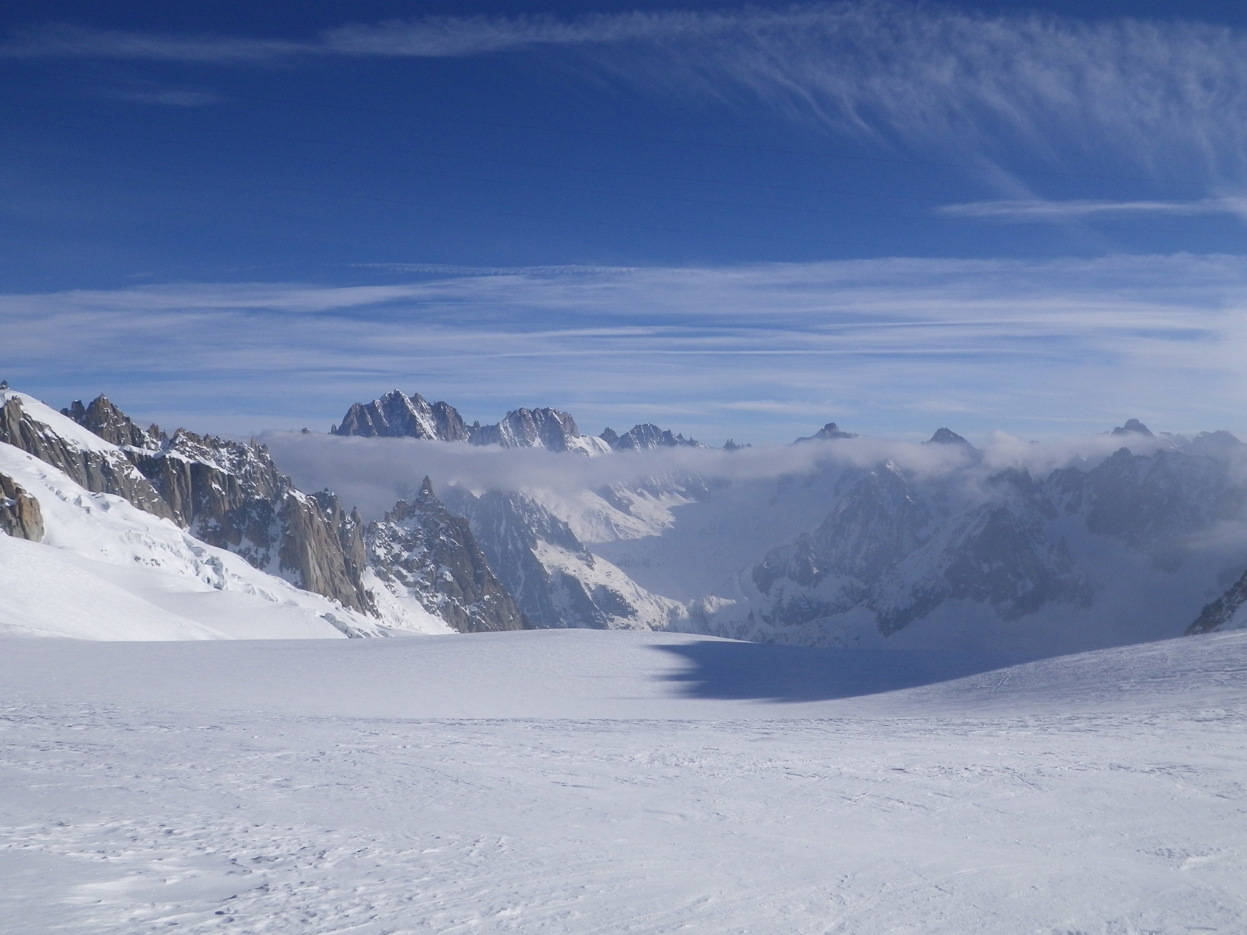 High on the Haute Route looking towards the Aiguille Verte