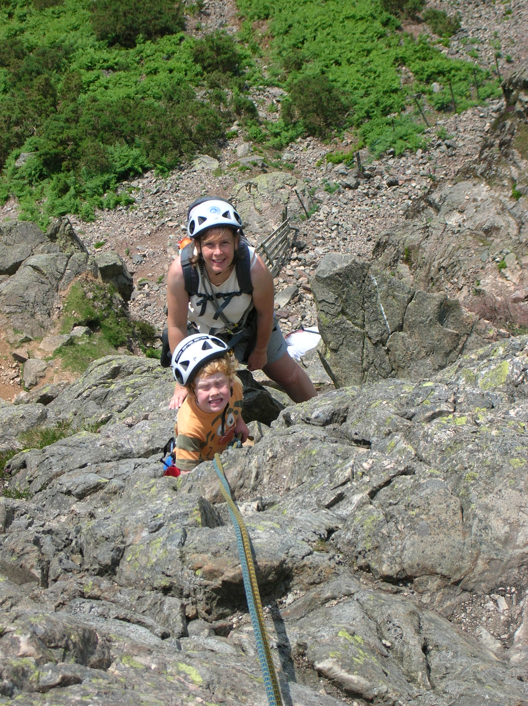 Anne & Sam on Middlefell Buttress