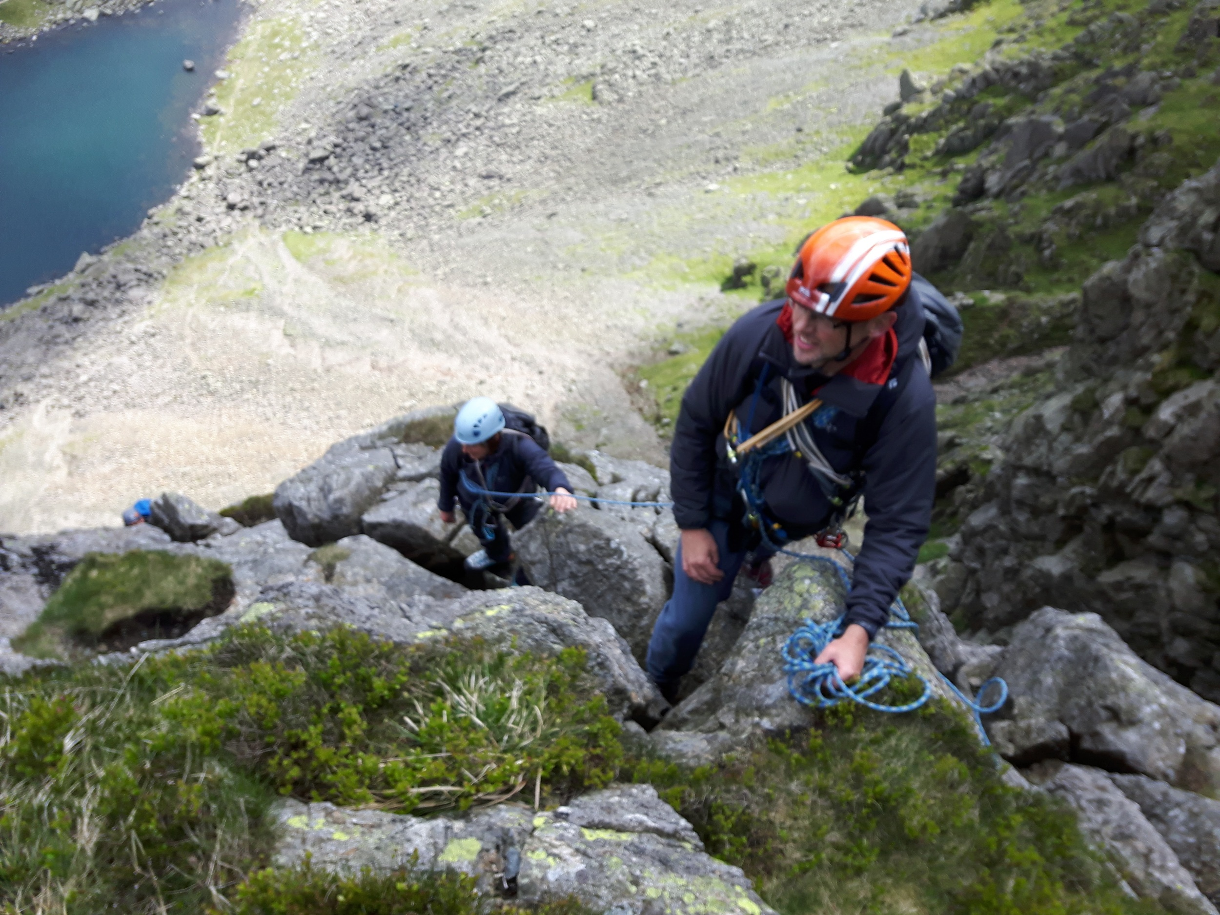 On Dow Crag, above Goat's Water