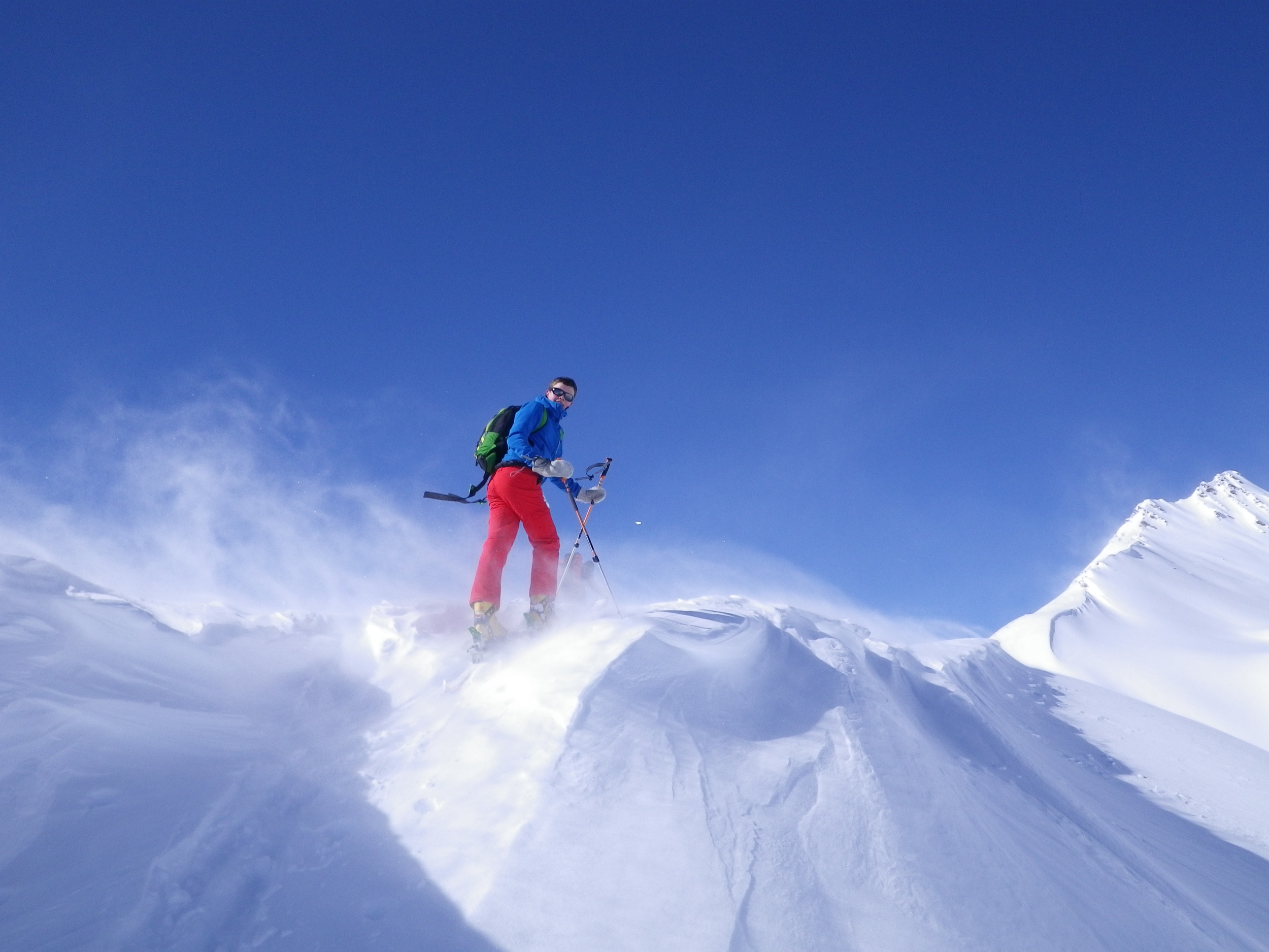 Ski touring near la grave