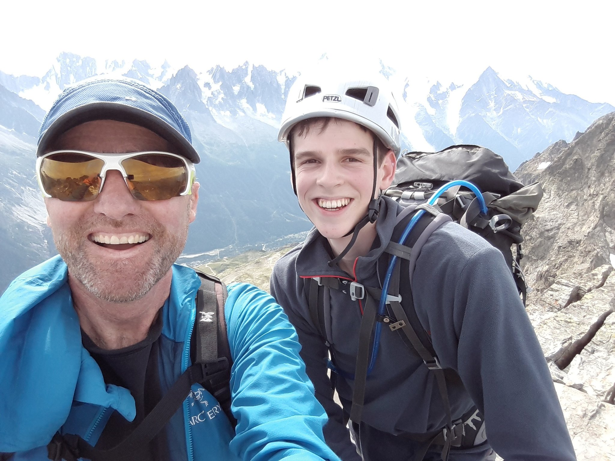 Climbing in the Aiguilles Rouges with Matt