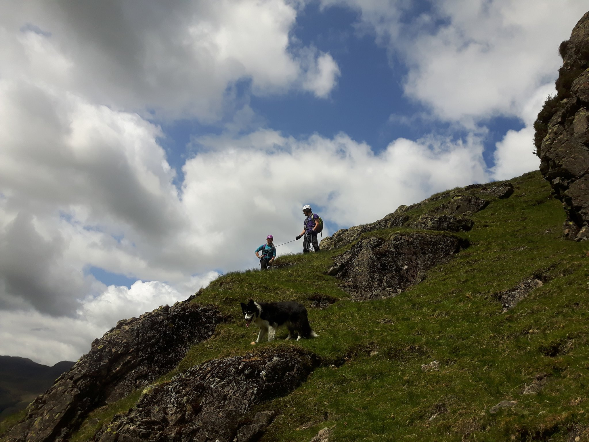 Short roping training in the lake district