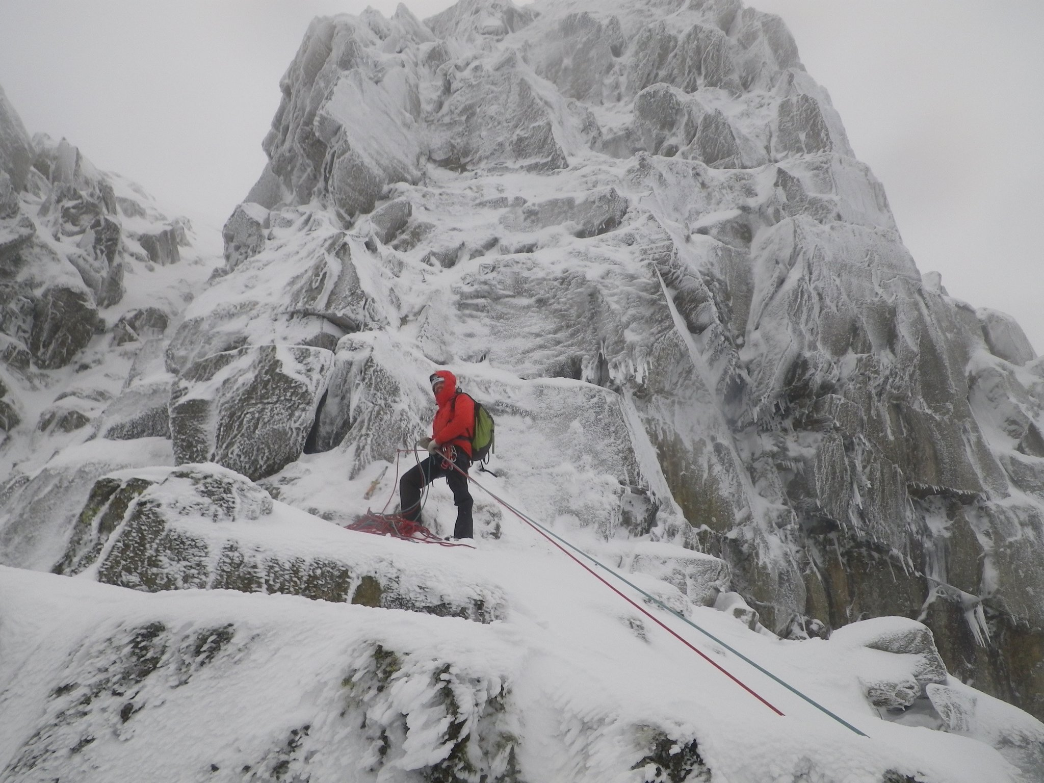 January: winter climbing in the Lake District - Viking Buttress, Helvellyn