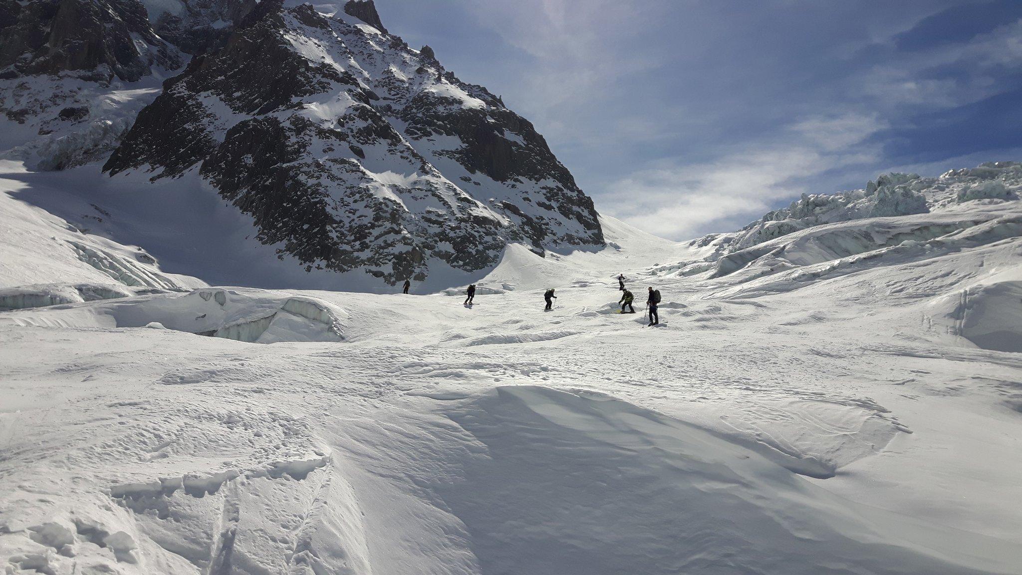 March: skiing the Vallée Blanche, Chamonix