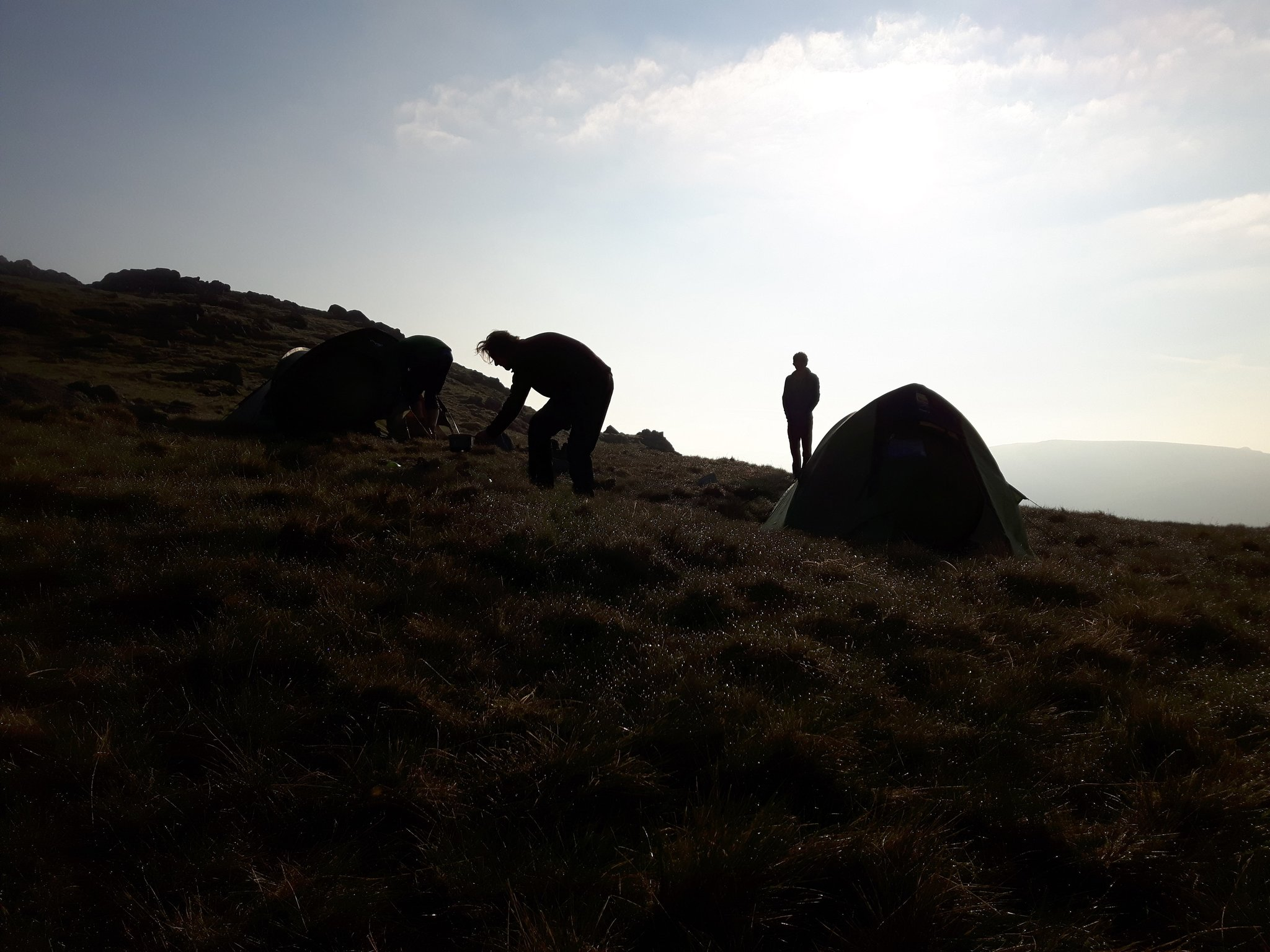 May: Mountain Leader assessment course in the Lake District - wild camping near High House Tarn, Glaramara