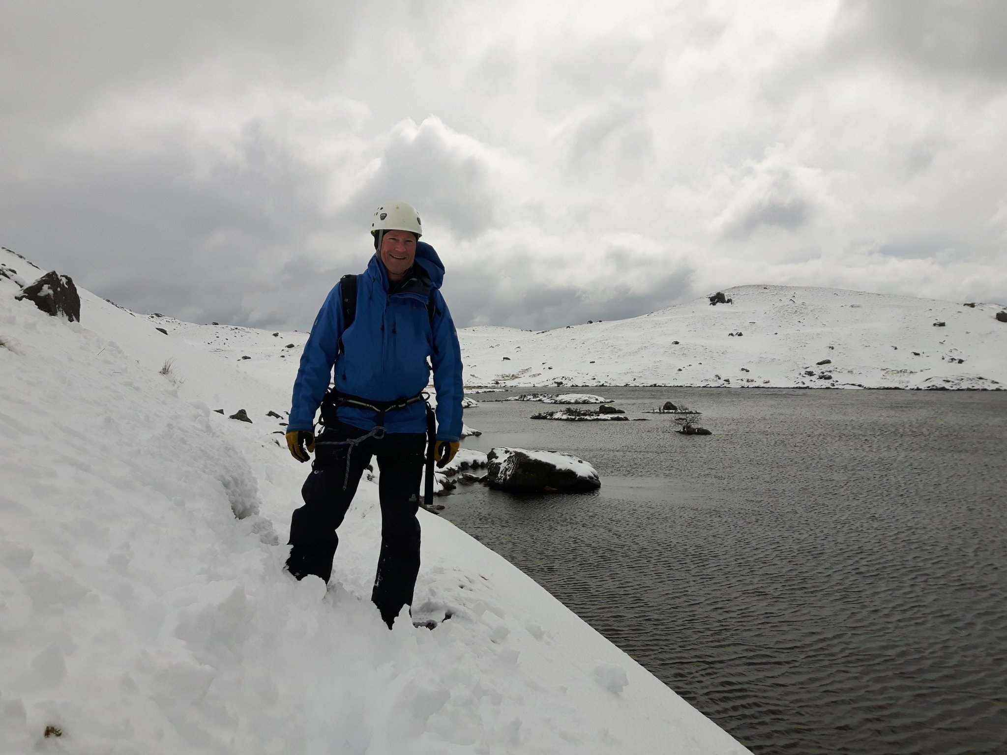 April: back to winter at Stickle tarn in the Lake District