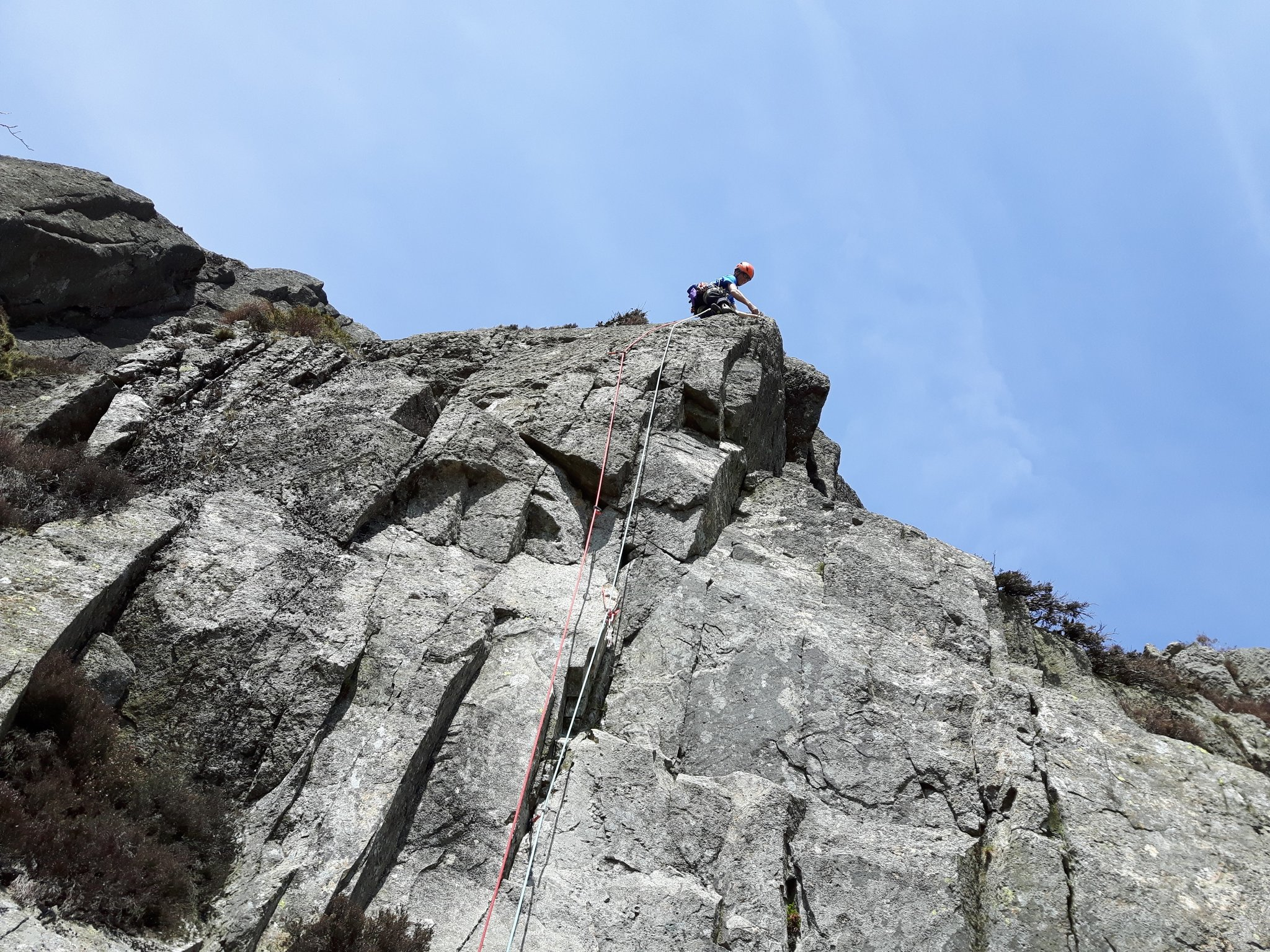 Climbing on Pavey Ark
