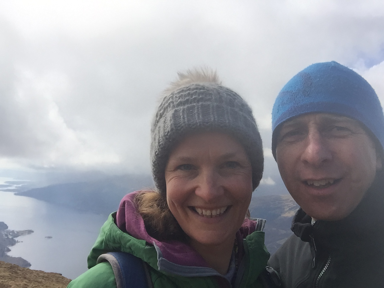 Munro bagging with wife Share