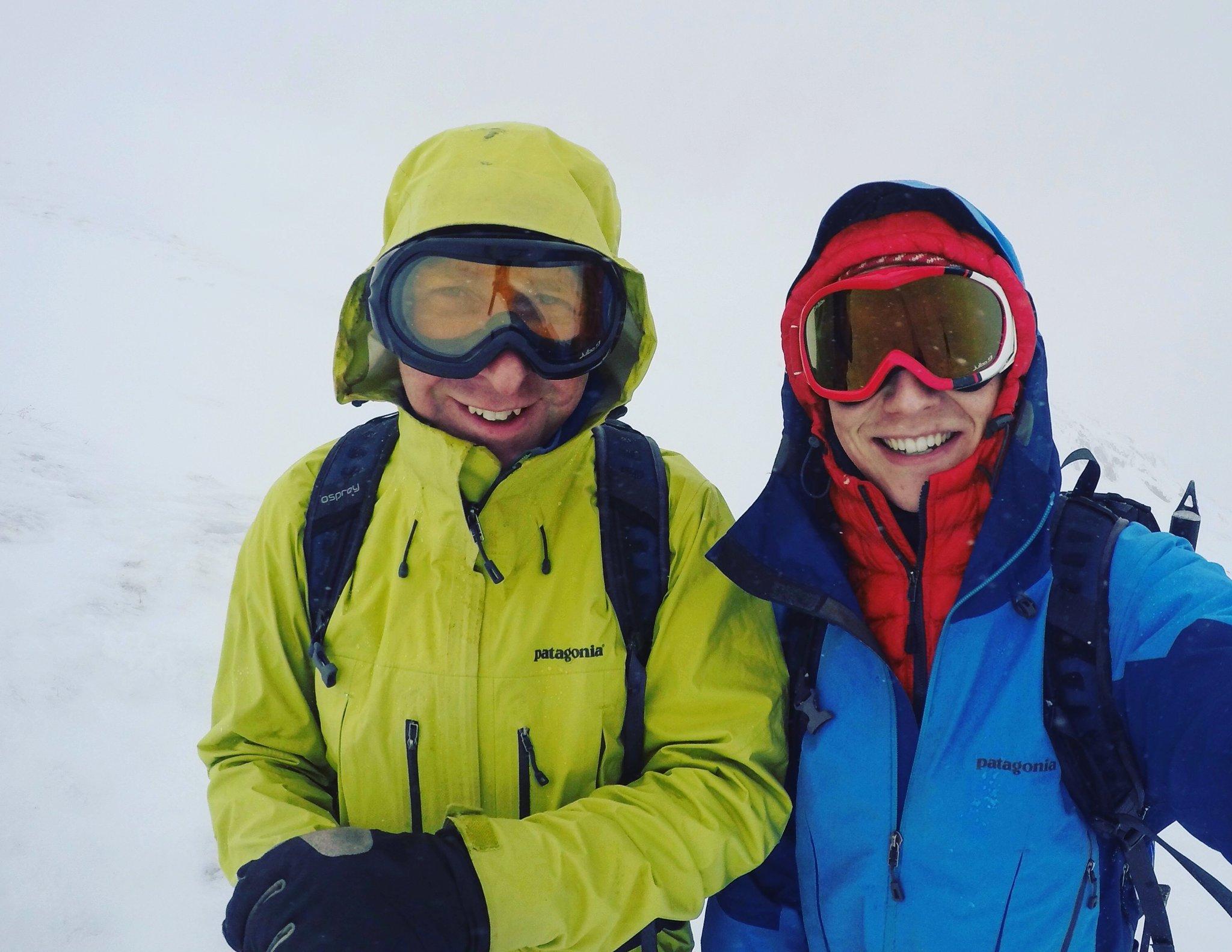 Ski touring in Scotland with oldest son Zach