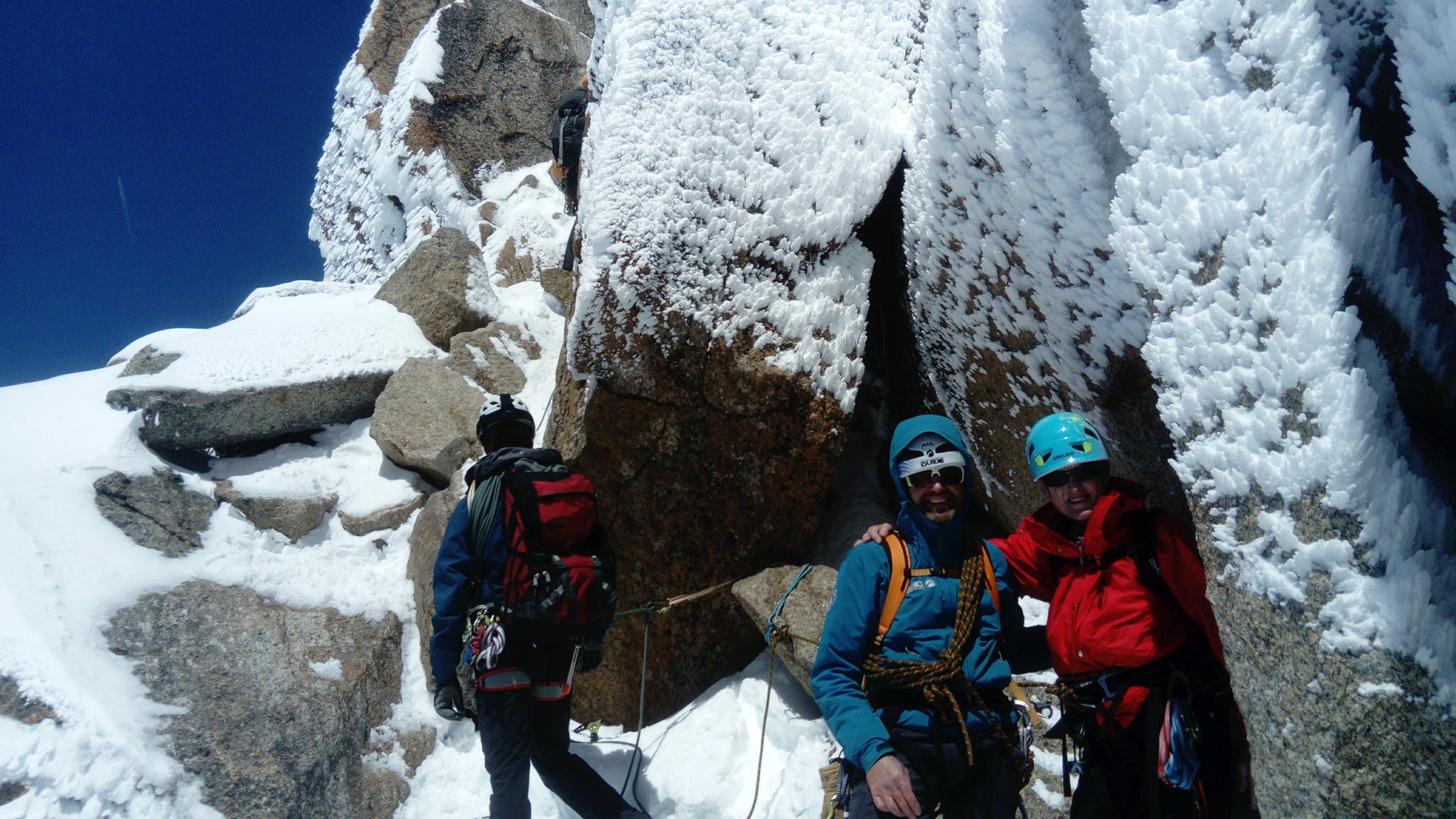 Chris and Wendy on the Cosmiques Arête