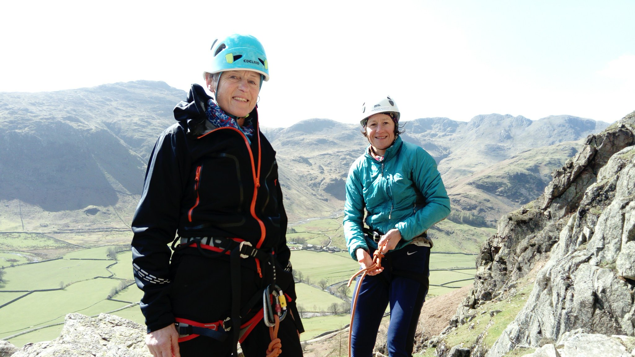 Wendy and Sarah in the Lakes for their Alps preparation days