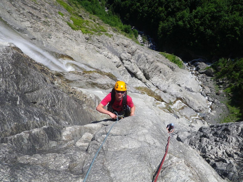 Alpine rock climbing -