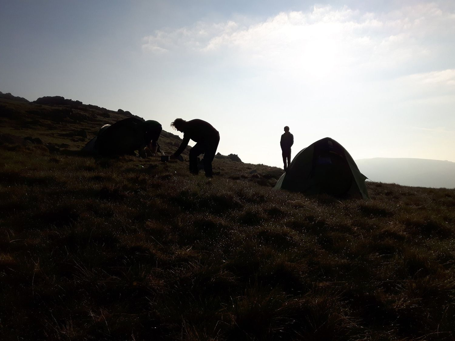 Wild camping on a Mountain Leader assessment course - Chris Ensoll Mountain Guide