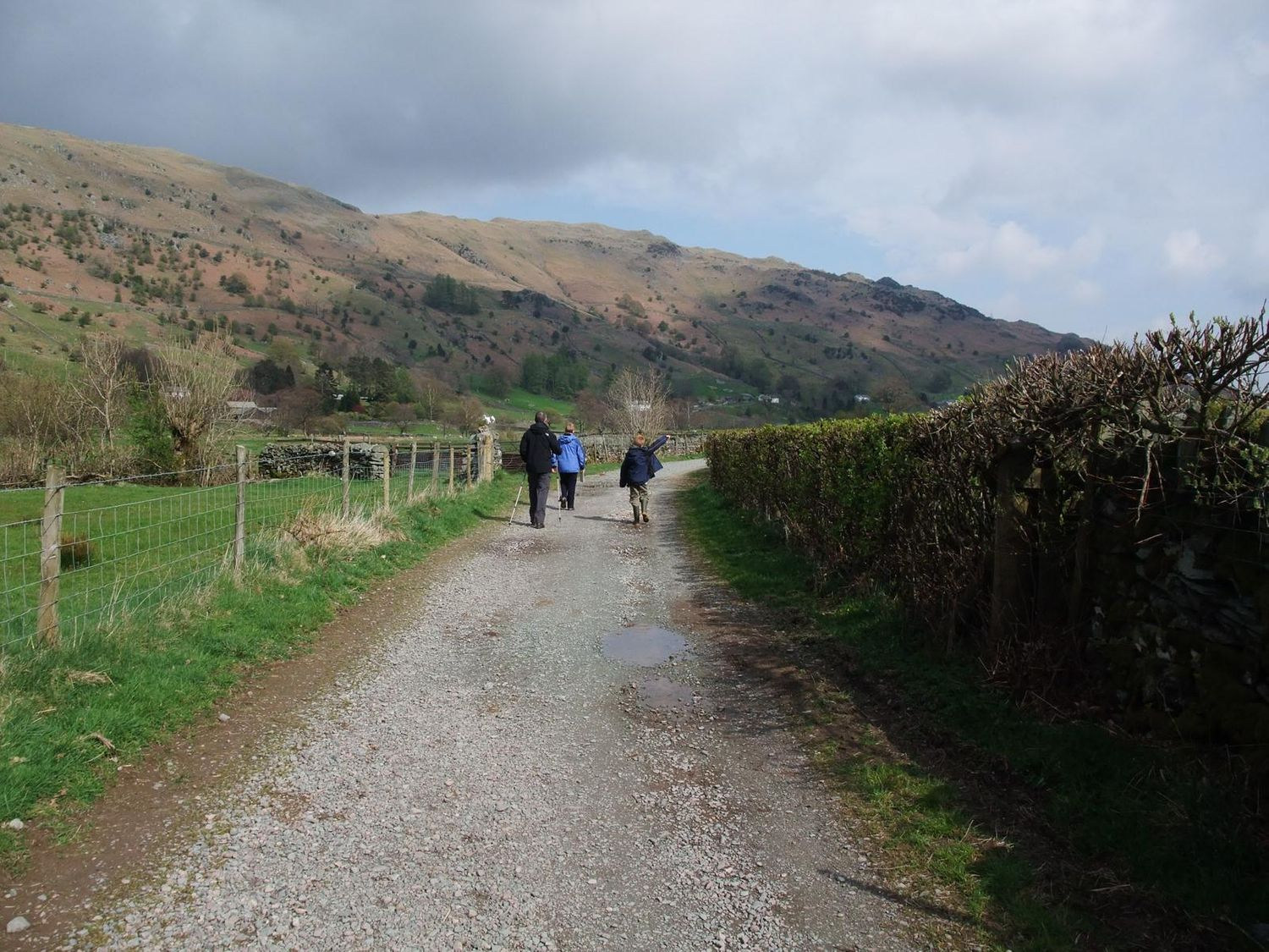 a family group walking on a public bridleway - chris ensoll mountain guide