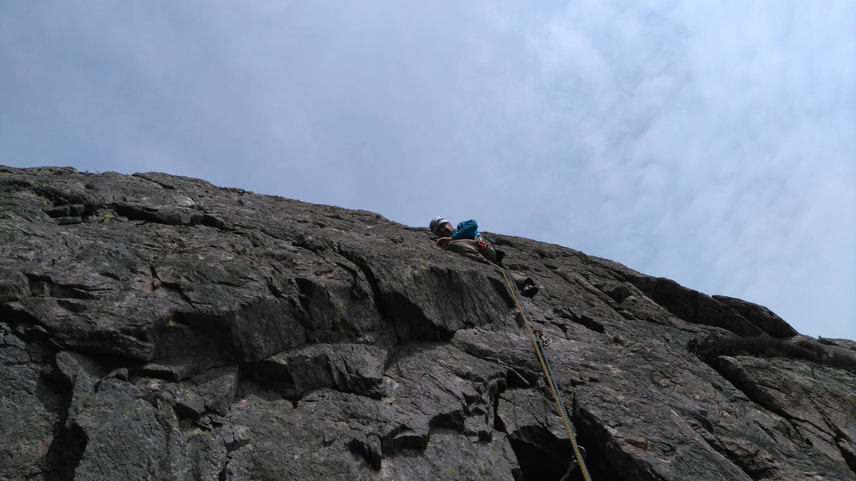 Rock climbing on Gimmer Crag, Langdale - Chris Ensoll Mountain Guide