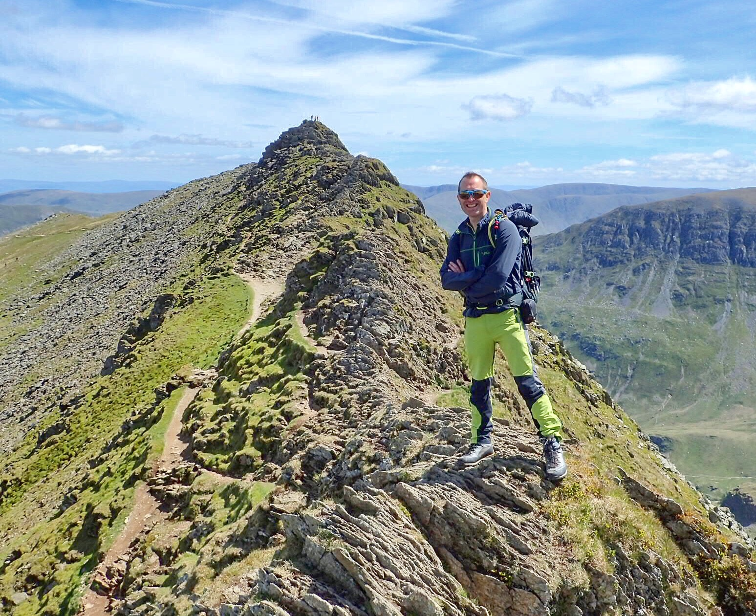 On Striding Edge, Helvellyn, Lake District