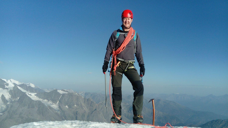 Rob on the summit of the Matterhorn, July 2017