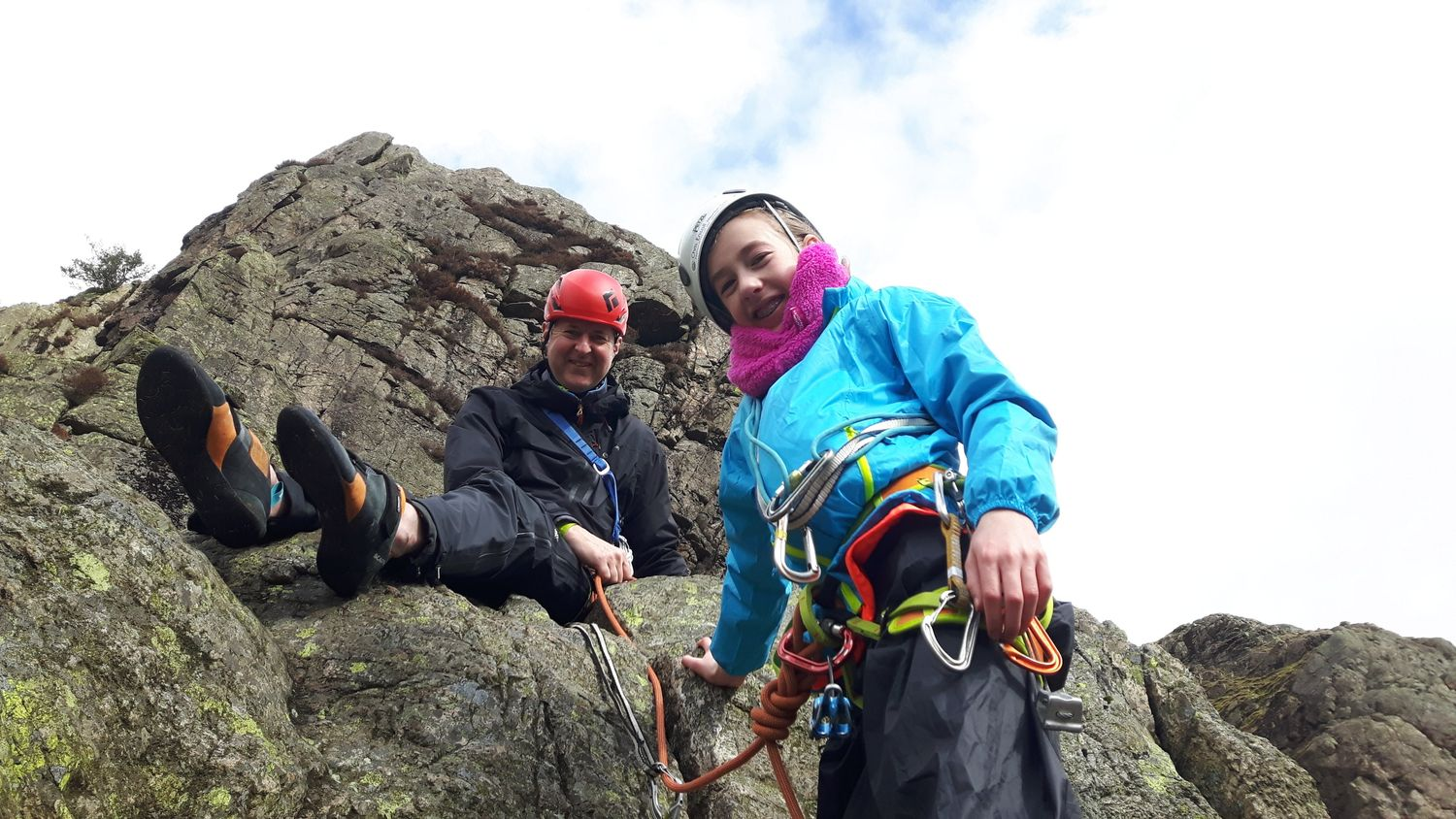 March: rock climbing in the Lake District with father and daughter Rob and Daisy